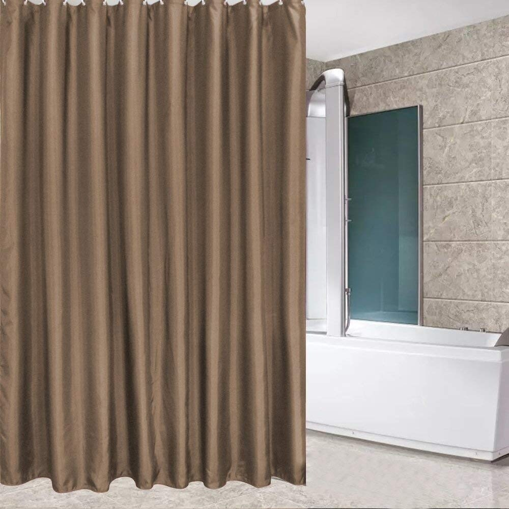 Shop Fashion Water Repellent Shower Curtain Brown Polyester Fabric For Men