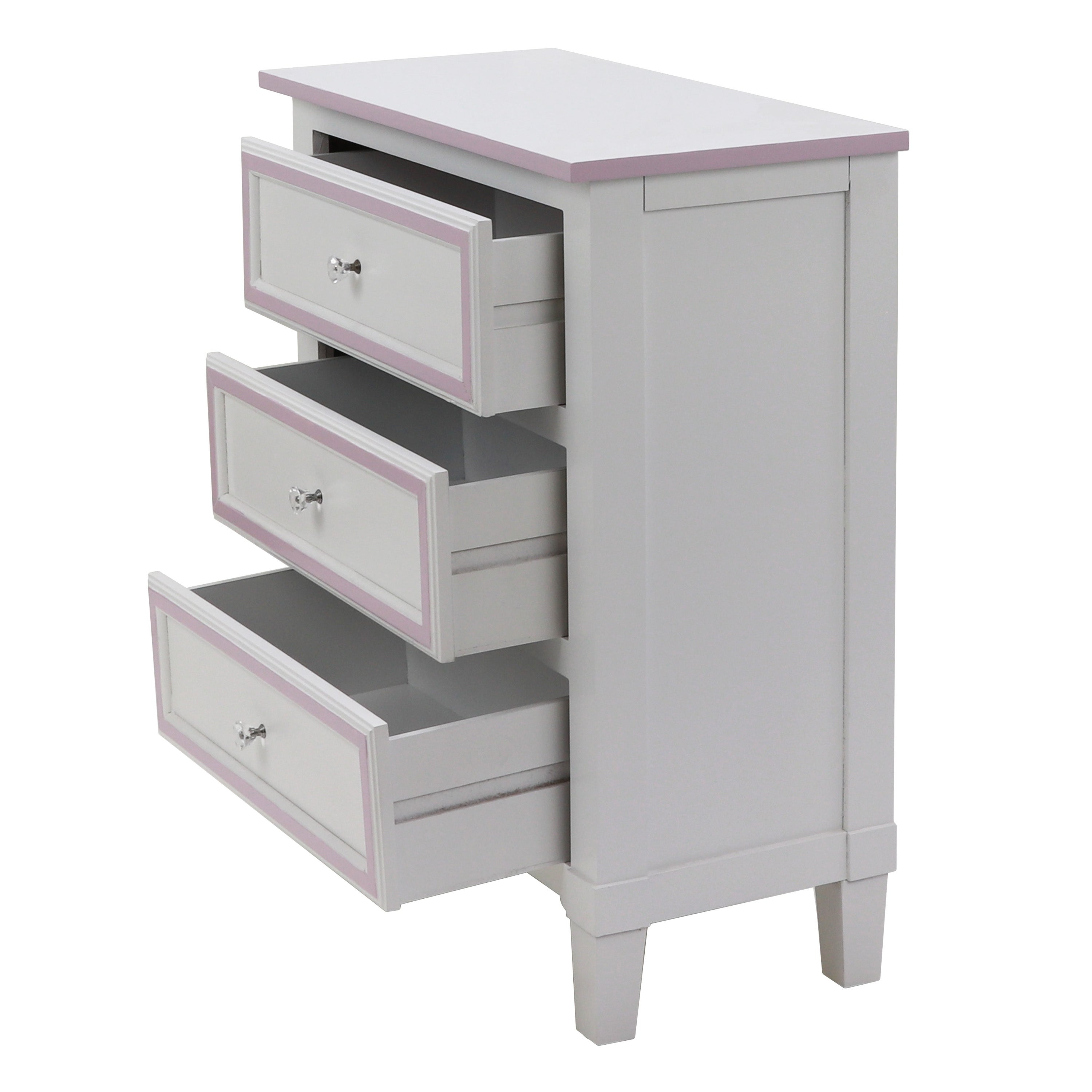 f3b05f1eb5 Shop Becket 3-drawer Wood Finish Side Table - Free Shipping Today -  Overstock - 22823882