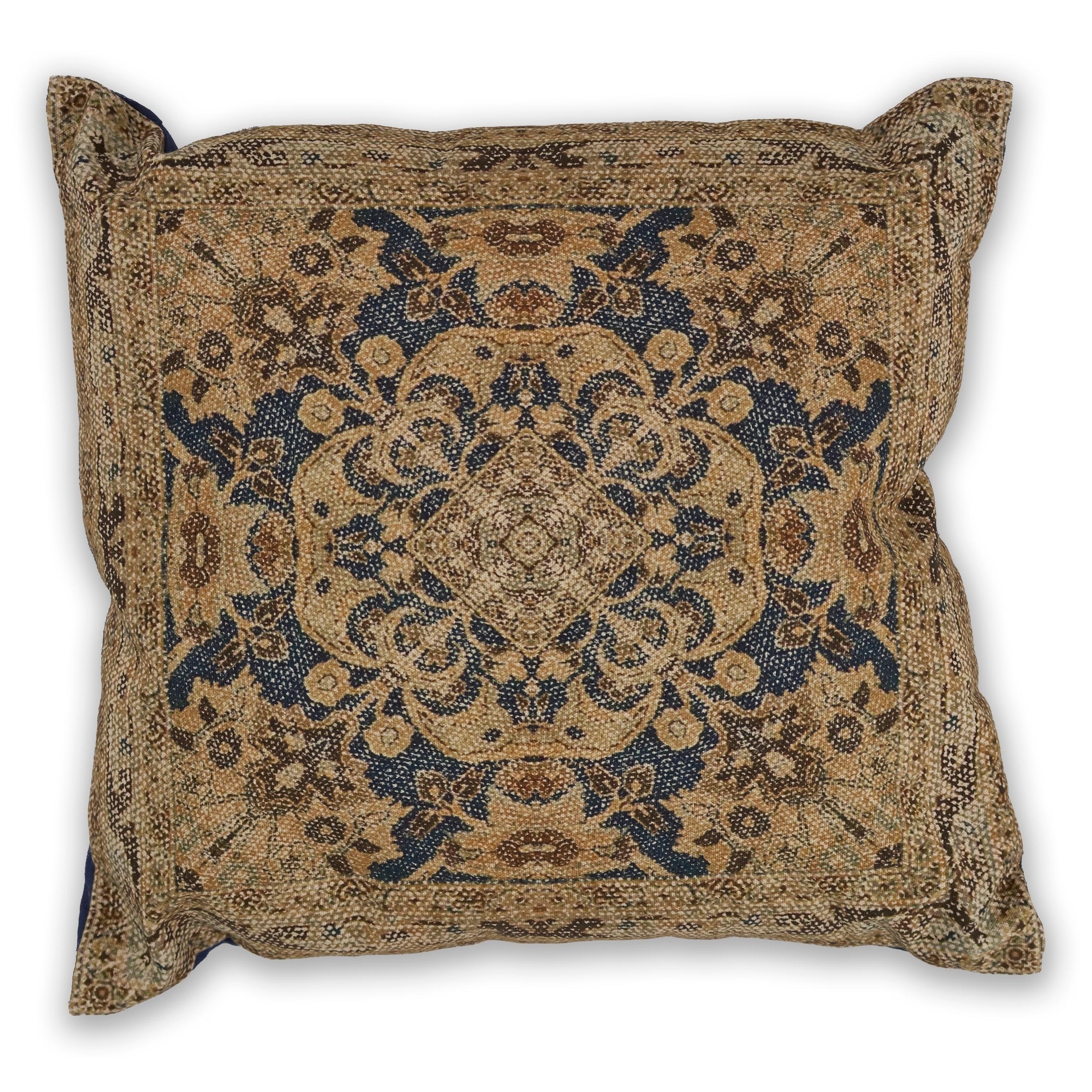 Shop Kas Navygold Artesia Decorative Throw Pillow On Sale Free