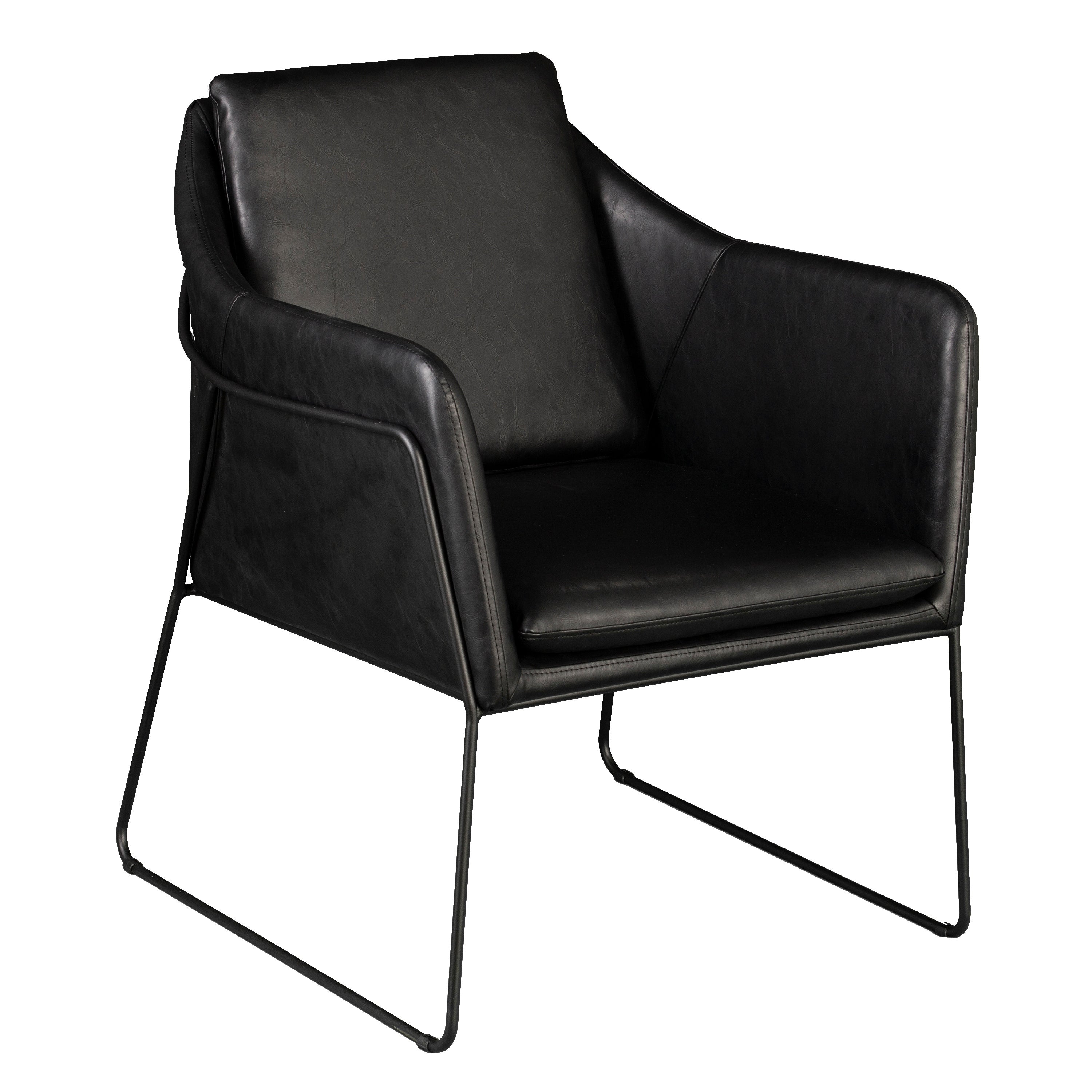 Shop harper blvd faux leather accent chair on sale free shipping today overstock com 22824554