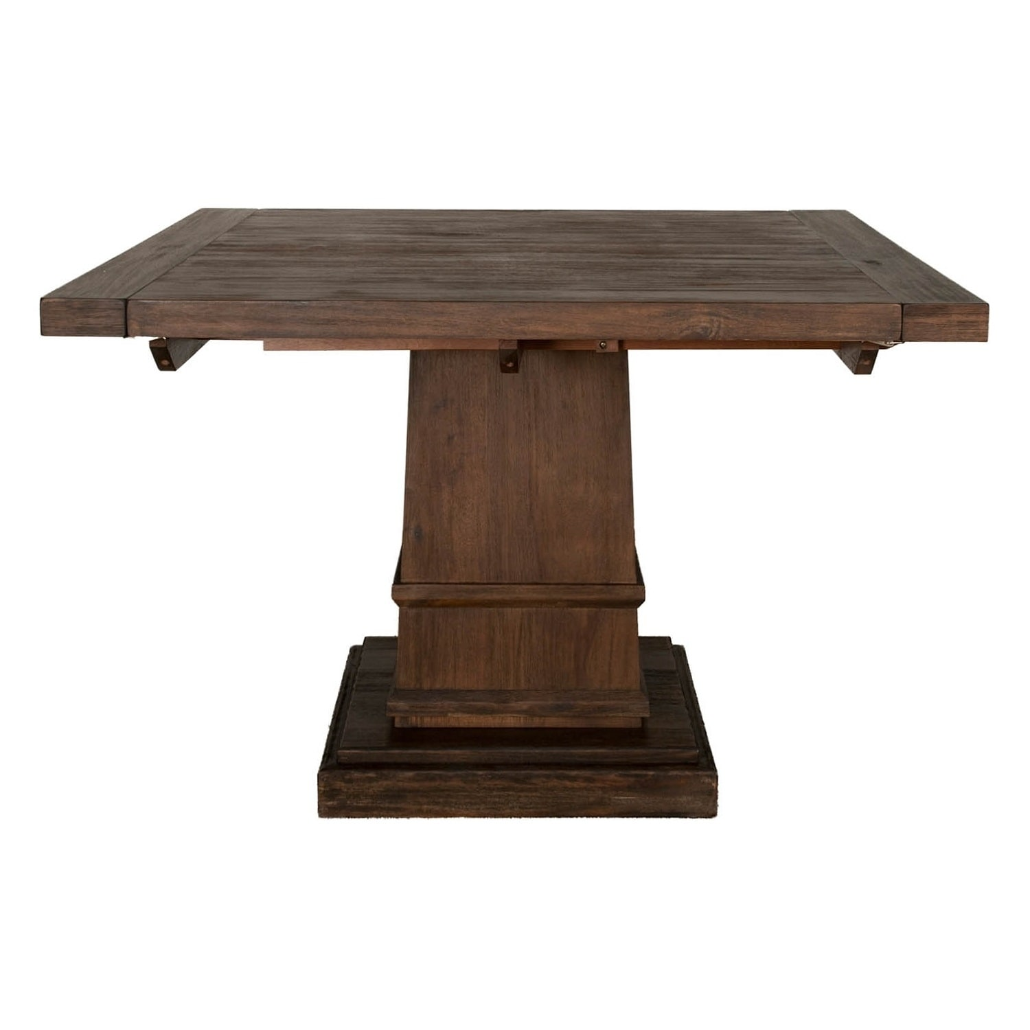 Modish Wooden Square Extension Dining Table Dark Brown Free Shipping Today 22827353