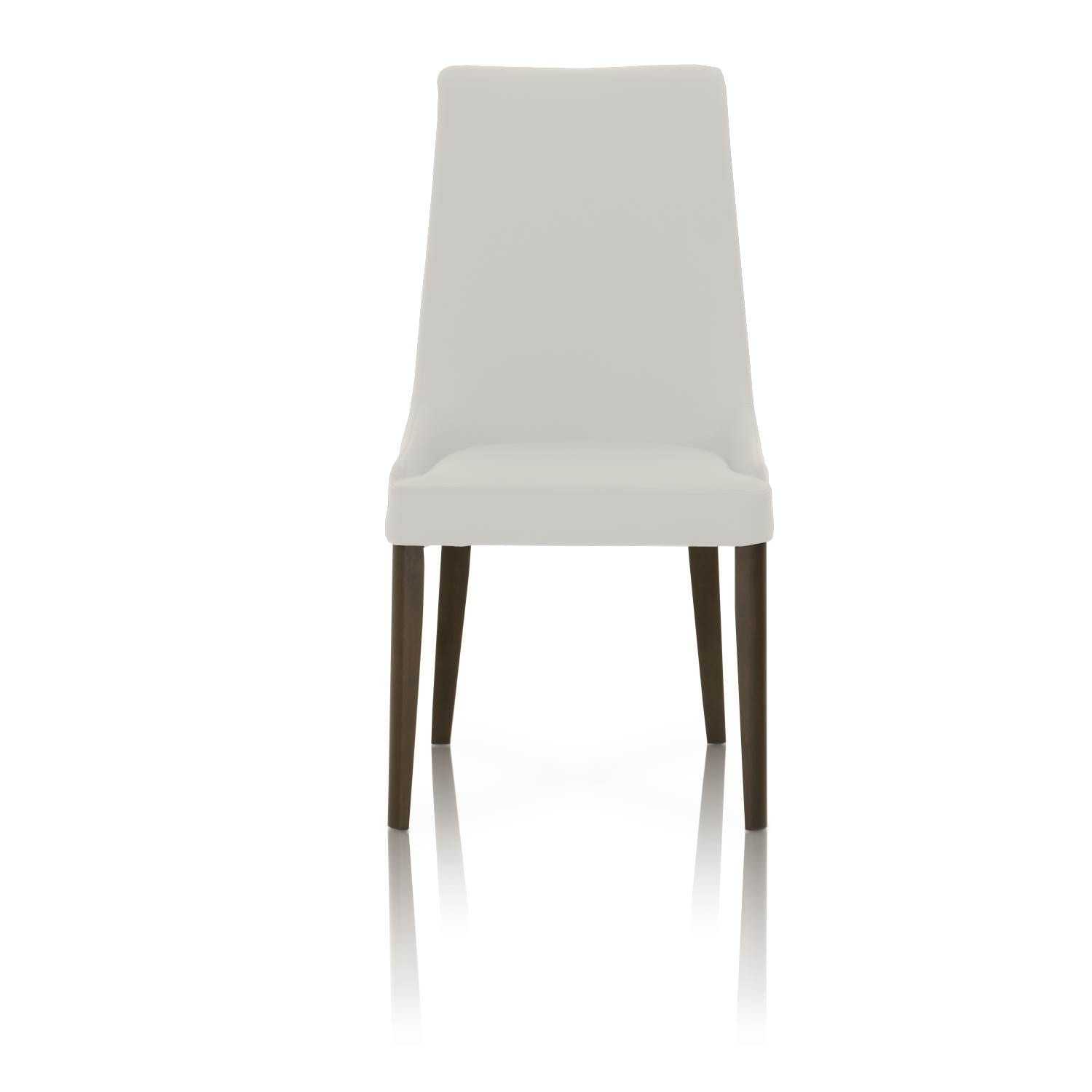 Dining Chairs With Sleek Wooden Legs Set Of 2 White And Brown On Free Shipping Today 22827402