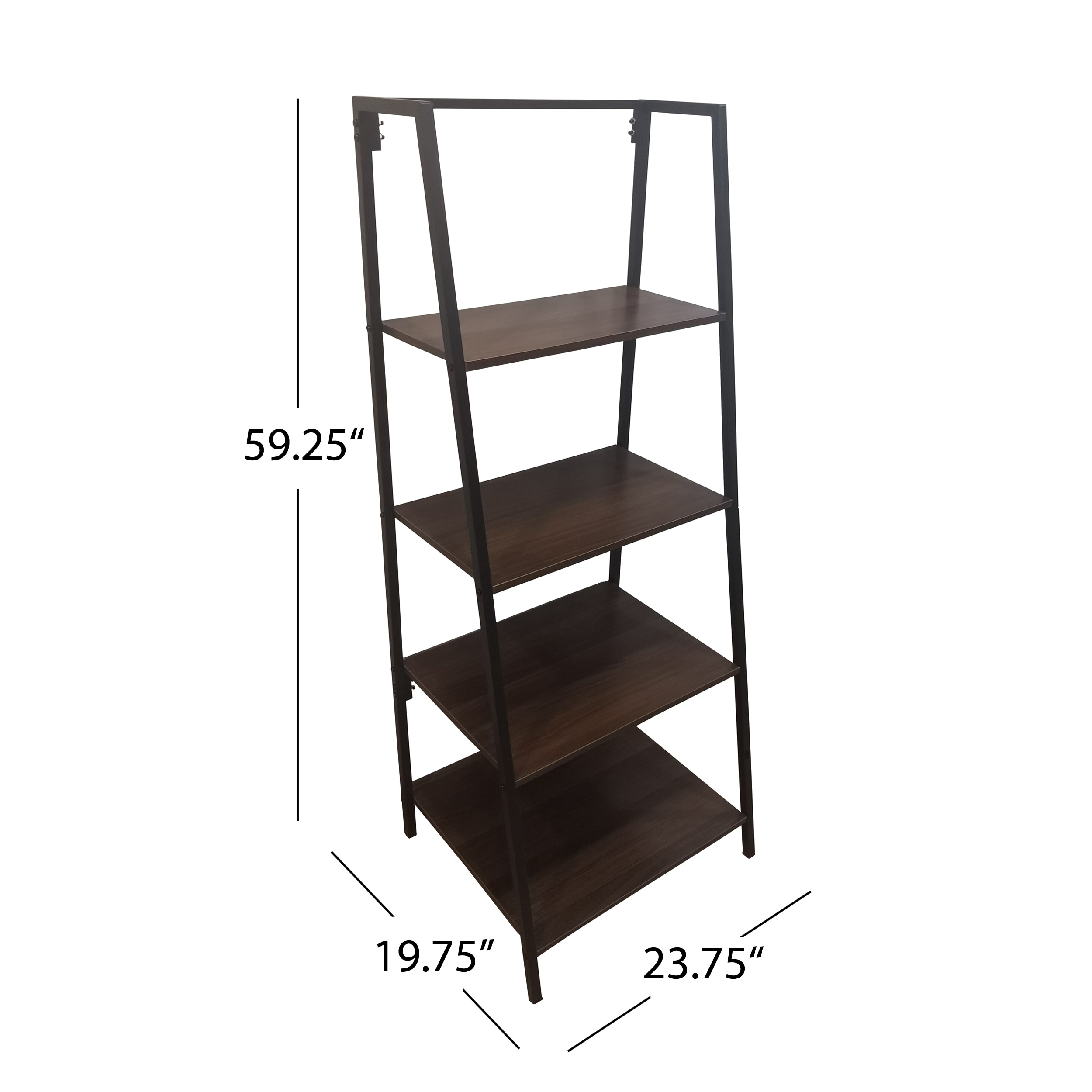 Shop Euclid Industrial 4 Tier Faux Wood And Iron A Frame Bookshelf By Christopher Knight Home