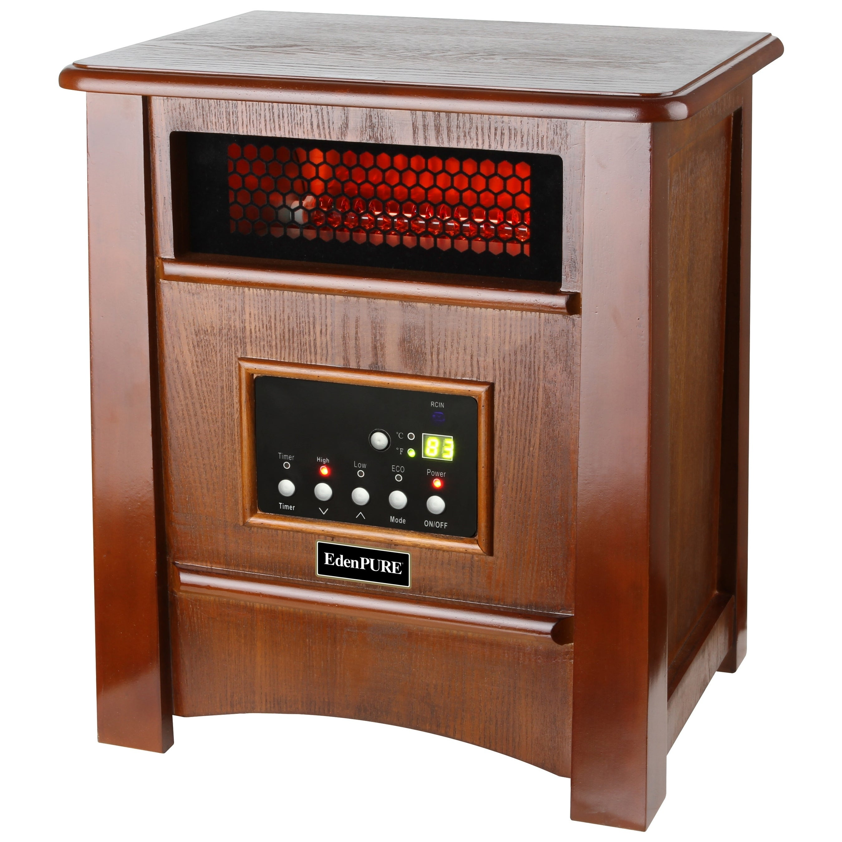 Shop Edenpure Copperhx W3 Elite Heater Walnut Finish Free