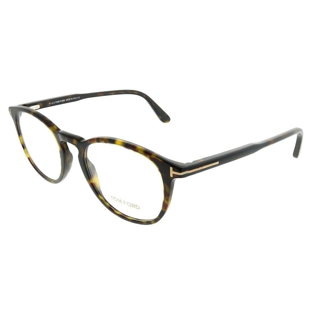 ab7a5ca380 Shop Tom Ford Round FT 5401 052 Unisex Dark Havana Frame Eyeglasses ...