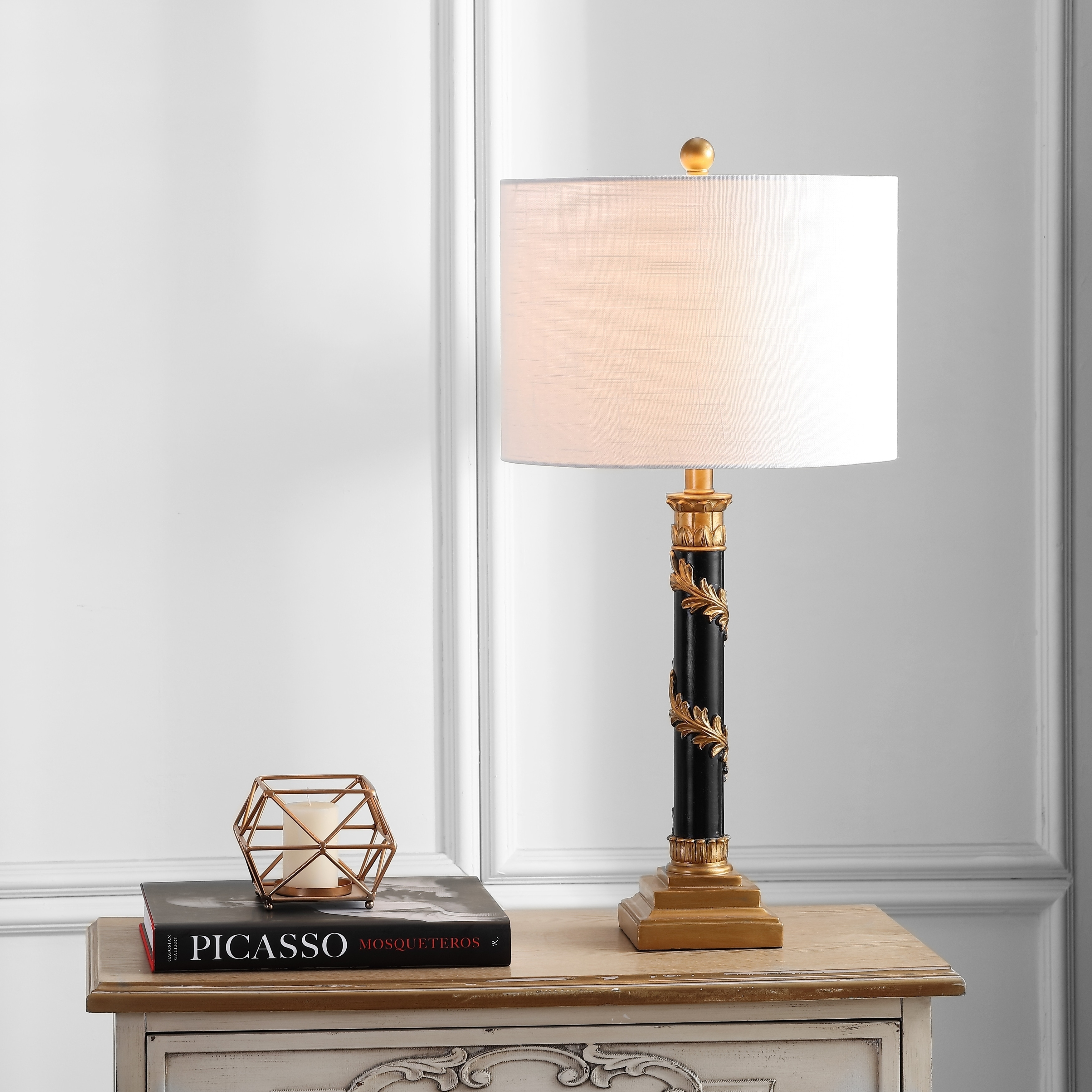 Shop Camilla 28 5 Resin Led Table Lamp Antique Gold Black By