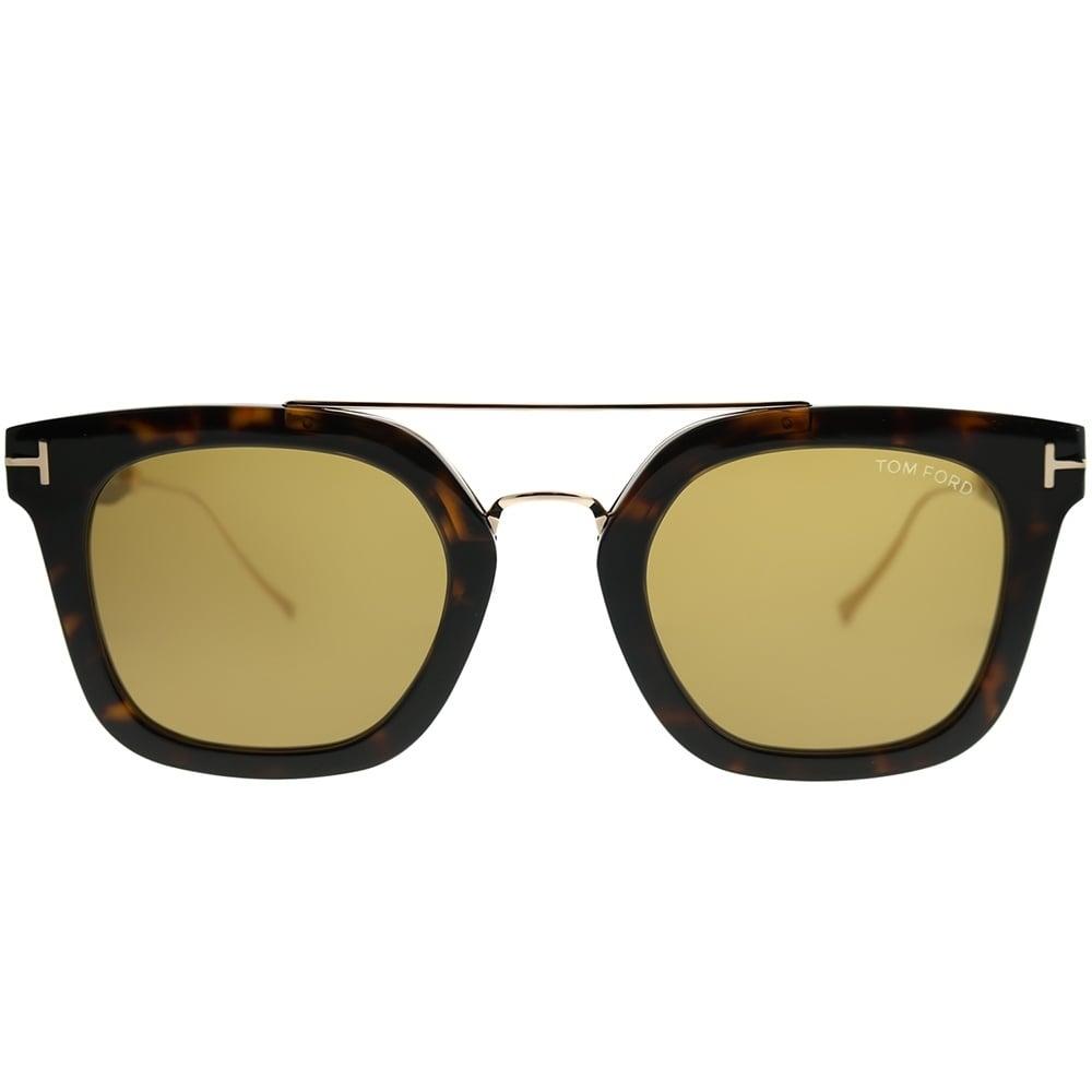 e81d348e80d3 Shop Tom Ford Square TF 541 Alex 52E Unisex Dark Havana Frame Brown Lens  Sunglasses - Free Shipping Today - Overstock - 22846145