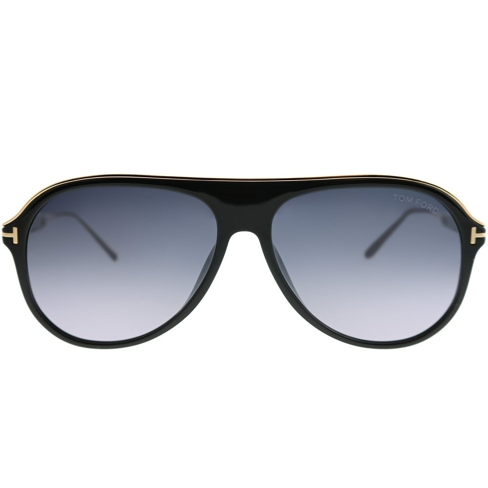 54400b009 Shop Tom Ford Aviator TF 624 Nicholai 01C Unisex Shiny Black Frame Grey  Mirror Lens Sunglasses - Free Shipping Today - Overstock - 22846188