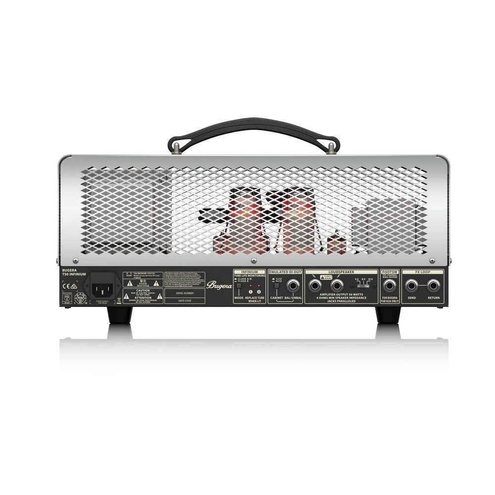 Shop Bugera T50 Infinium Cage Style 2 Channel Guitar Tube Amp Head W 25 Class A Amplifier Multi Ab Operation Reverb 50 Watt Free Shipping Today