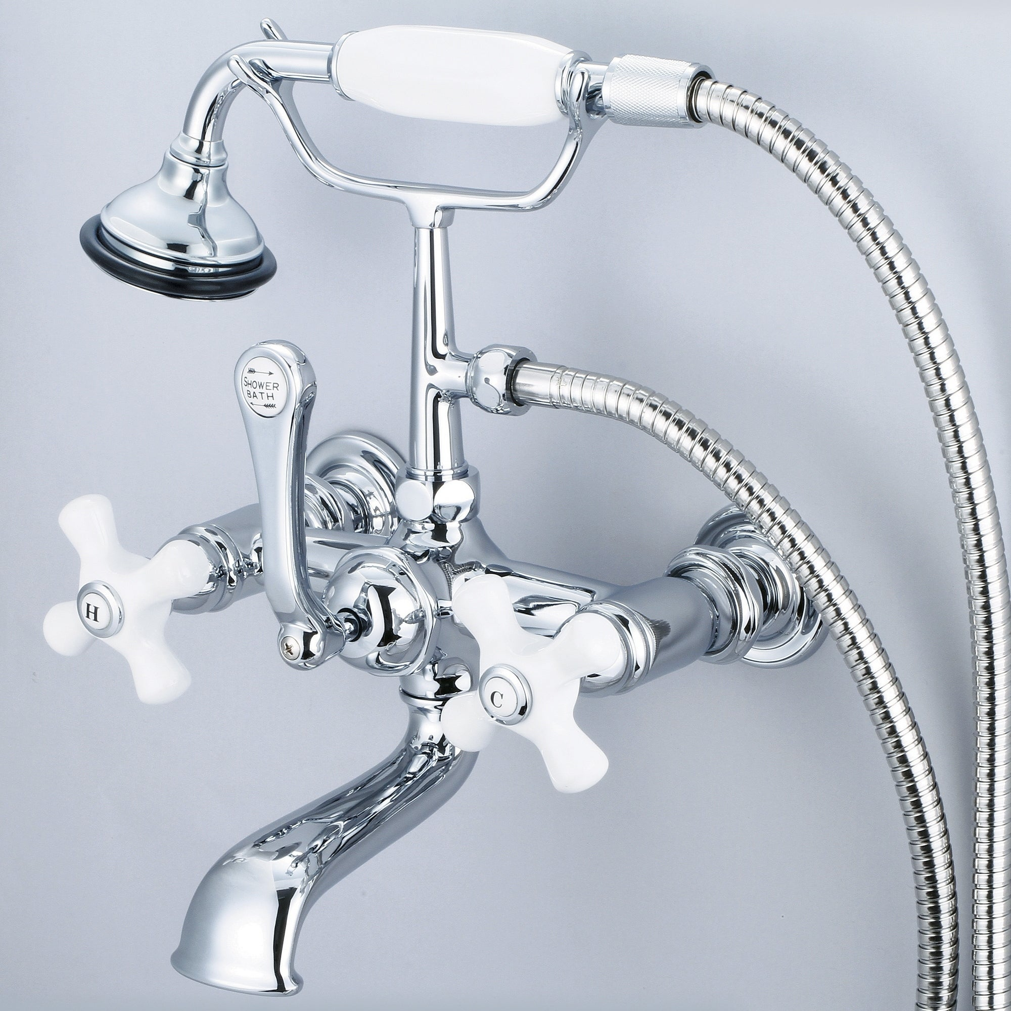 Shop Vintage Classic 7 Inch Spread Wall Mount Tub Faucet With ...