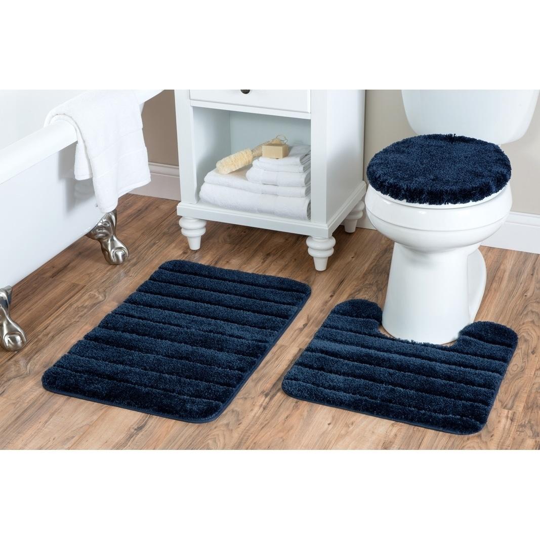 Shop Luxury Nylon 3 Piece Bath Rug Set On Sale Free Shipping On