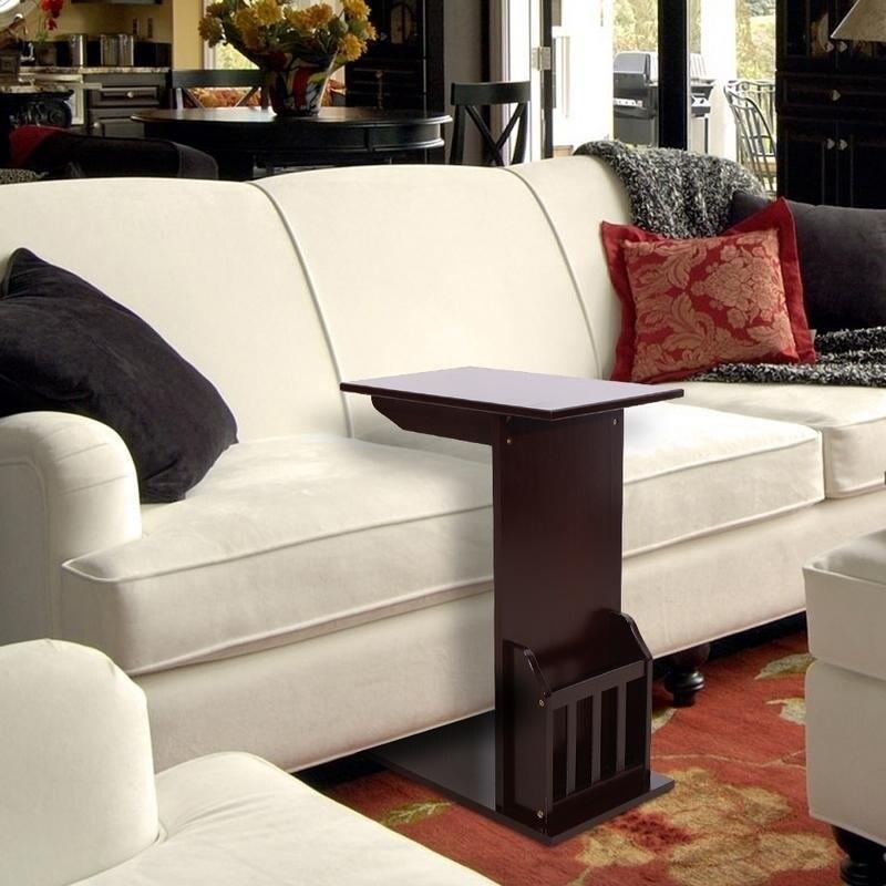 Shop L Shape Bamboo Furniture Sofa Side End Coffee Table W Holder