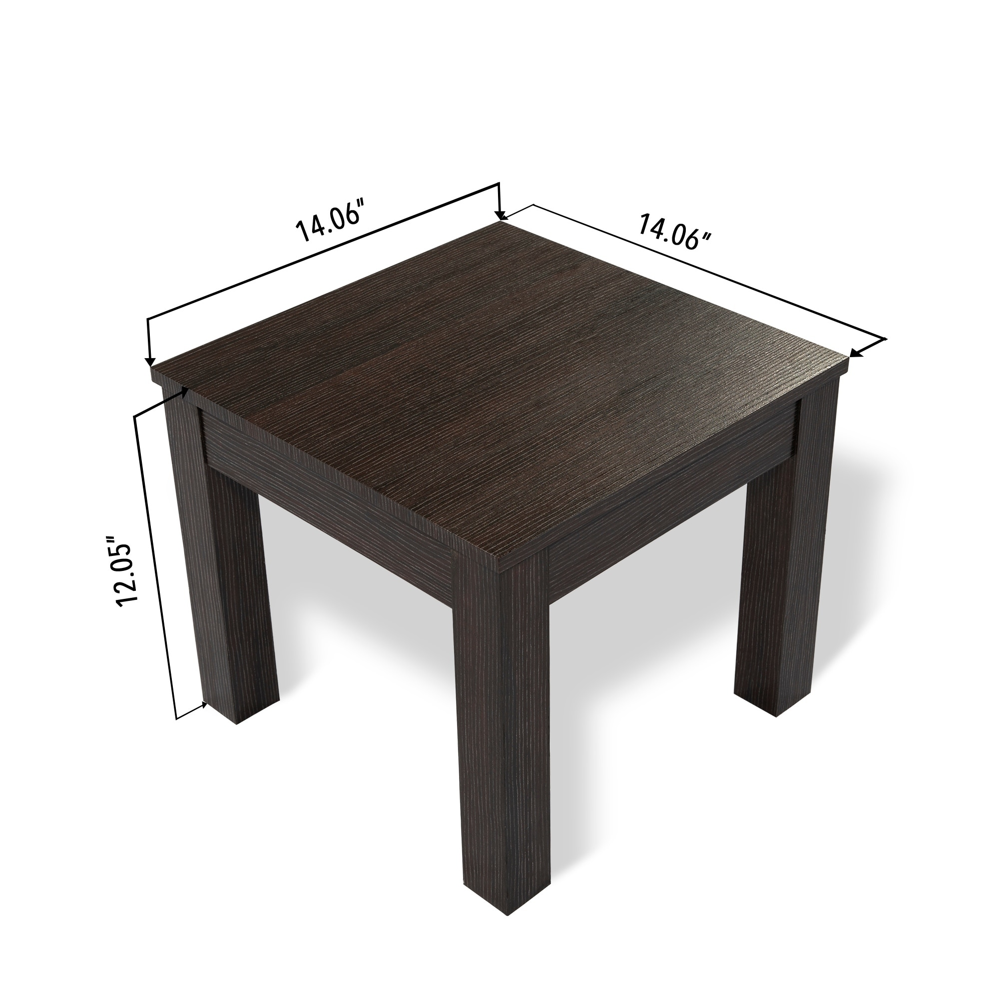 Mundy Dark Cherry Finish Coffee Table With Cushioned Stools Set Of 5 31 5l X 5w 17 72h On Free Shipping Today