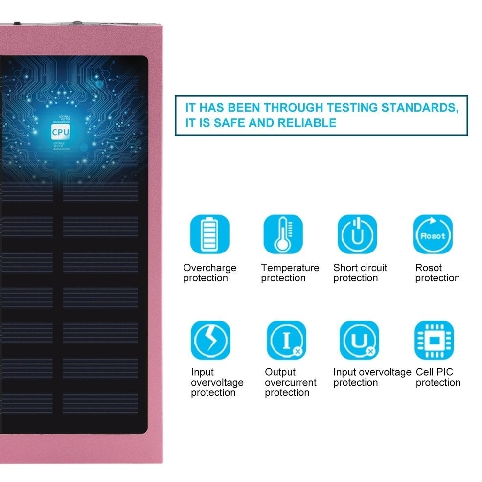 Shop 100000mah Dual Usb External Battery Charger Phone Solar Power With Overcharge Protection Electronic Bank Free Shipping On Orders Over 45 22869172