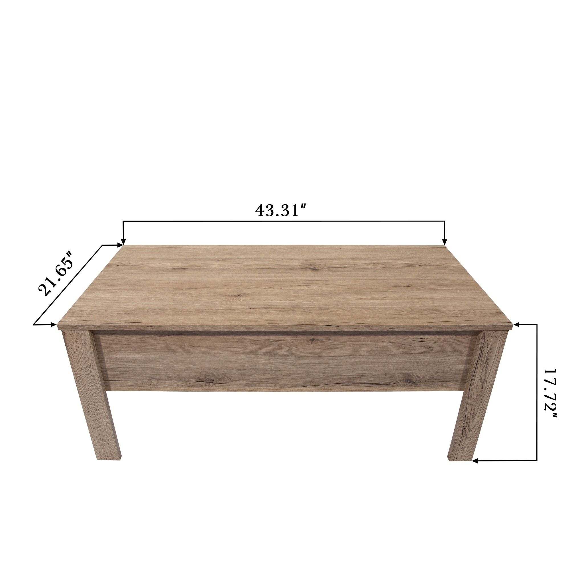 Emily Light Oak Finish Lift Top Coffee Table With Storage 21 65 X 43 31 17 72 On Free Shipping Today 22869182