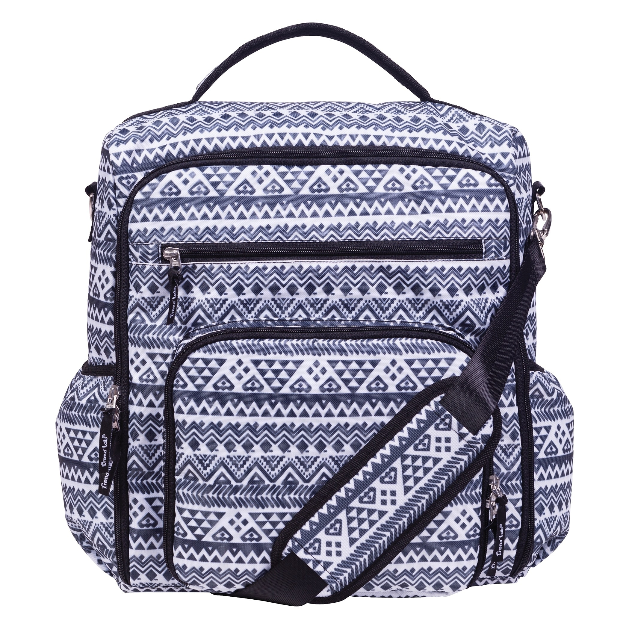 Aztec Black And White Convertible Backpack Diaper Bag Free Shipping Today 22874370