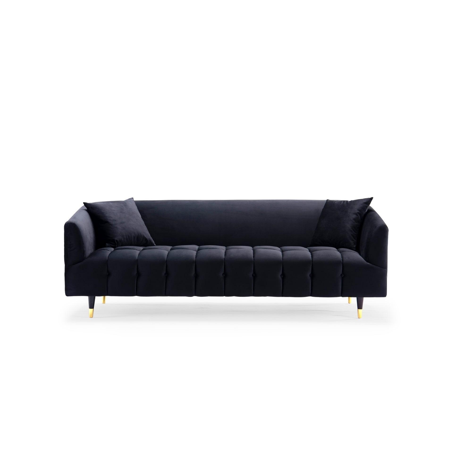 Perfect Shop Chic Home Ella Velvet Upholstered Channel Quilted Sofa   On Sale    Free Shipping Today   Overstock.com   22884417