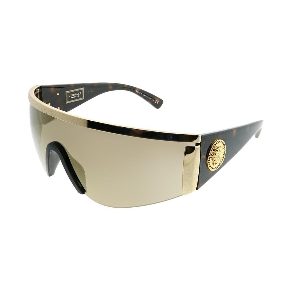 7e804dbe94 Versace Shield VE 2197 10005A Unisex Gold Frame Gold Mirror Lens Sunglasses