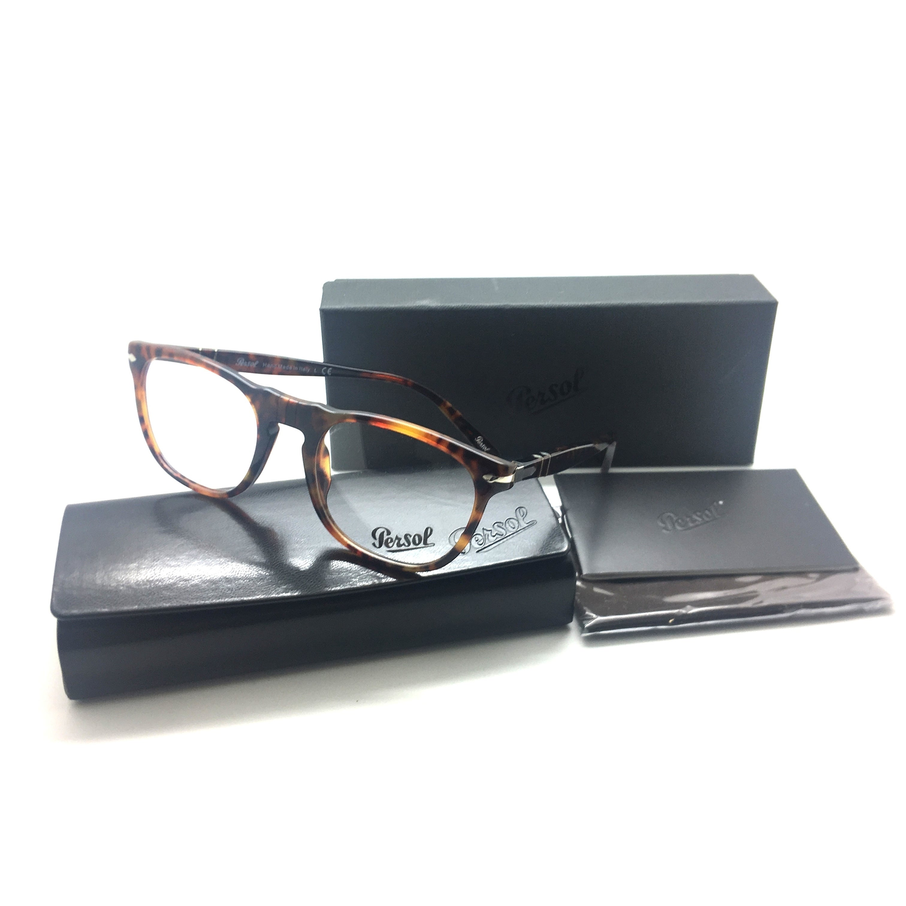 73aef299f91 Shop Persol Round Tortoise Eyeglasses Frame 50MM 2996 V 108 Caffe - Free  Shipping Today - Overstock - 22889439