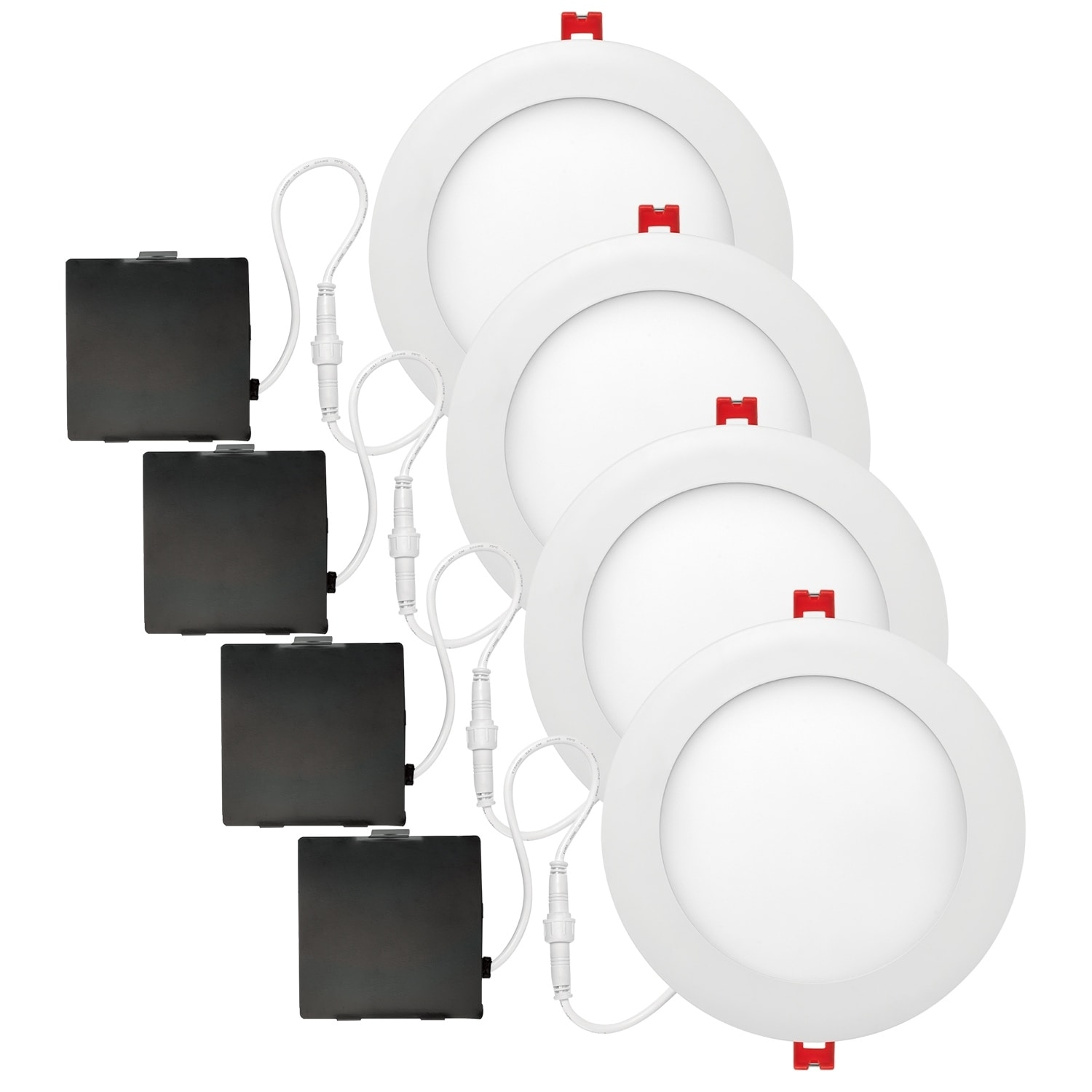 6 In Ultra Slim Designer Series Ambient Dimming Integrated Led Recessed Lighting Kit 4 Pack Free Shipping Today 22894171
