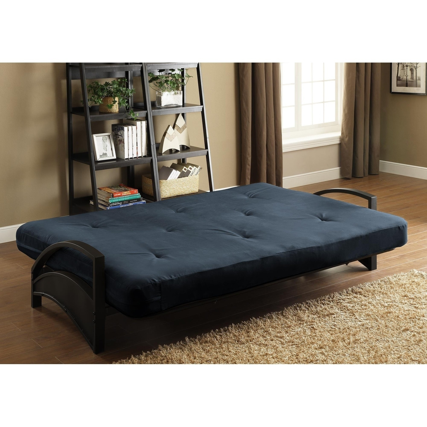 Dhp Alessa Black Futon Frame And 6 Inch Mattress Set On Free Shipping Today Com 22899186