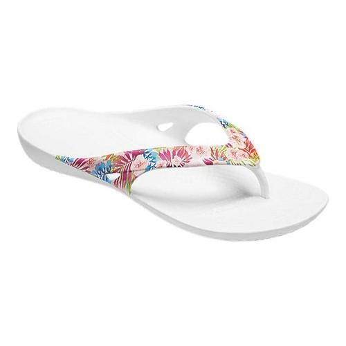 13286748d56 Women  x27 s Crocs Kadee II Graphic Flip Sandal Tropical Floral White