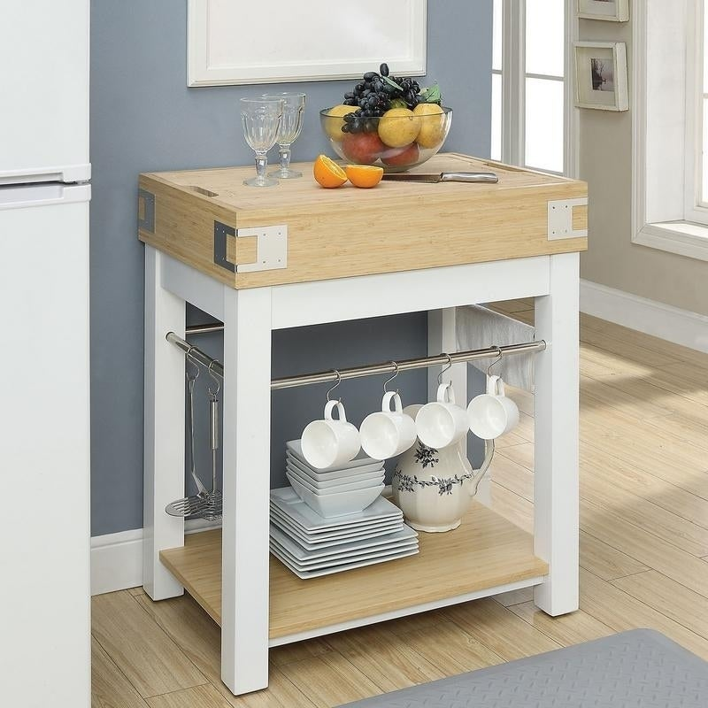 Shop Furniture Of America Thompson Two Tone Kitchen Island With