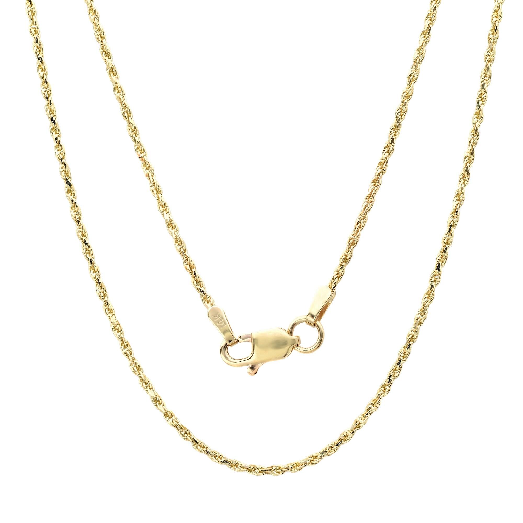 9896aeb006faf Roberto Martinez 14k Yellow Gold Diamond-Cut Rope Chain Necklace