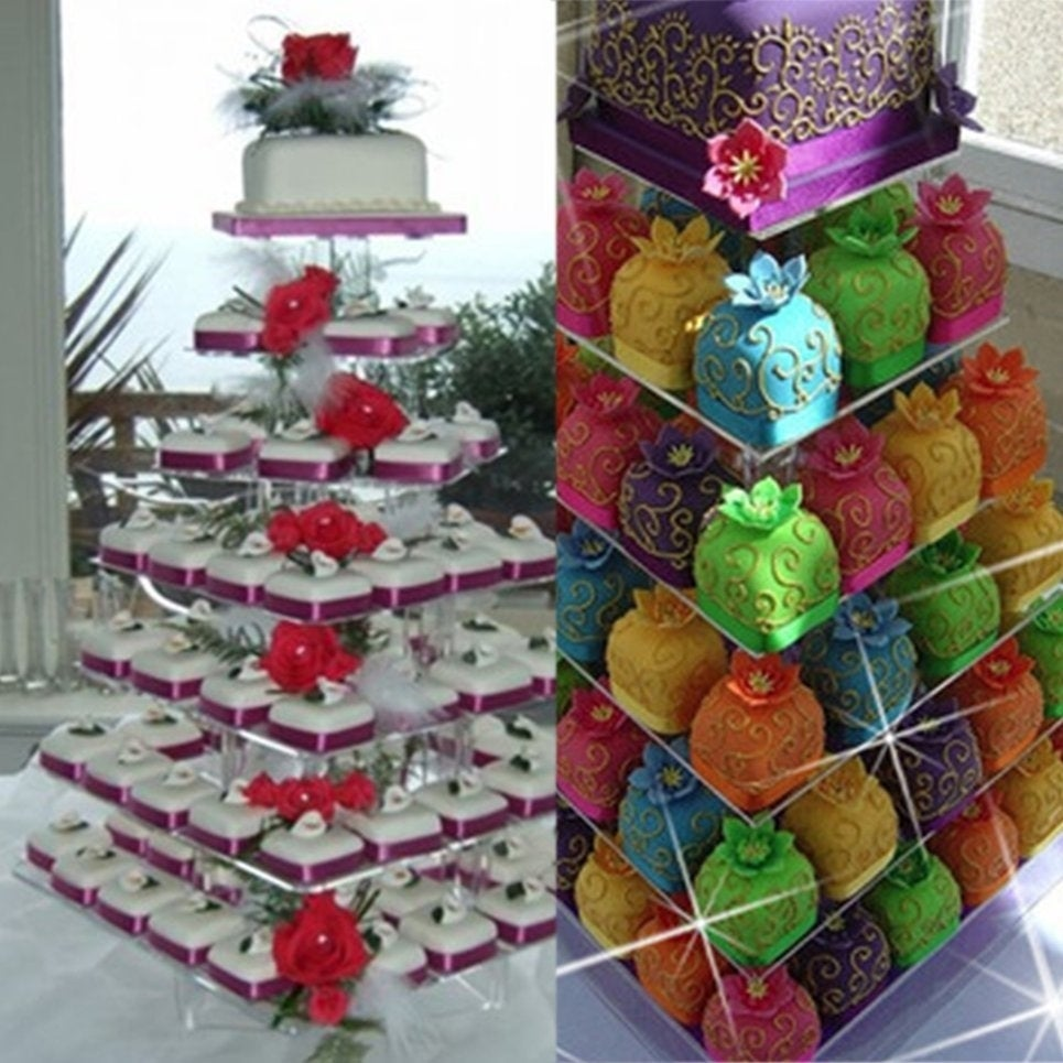 Shop 7 Tier Acrylic Round Cupcake Stand Cake Shelf Display Decoration On Sale Free Shipping Today 22920272