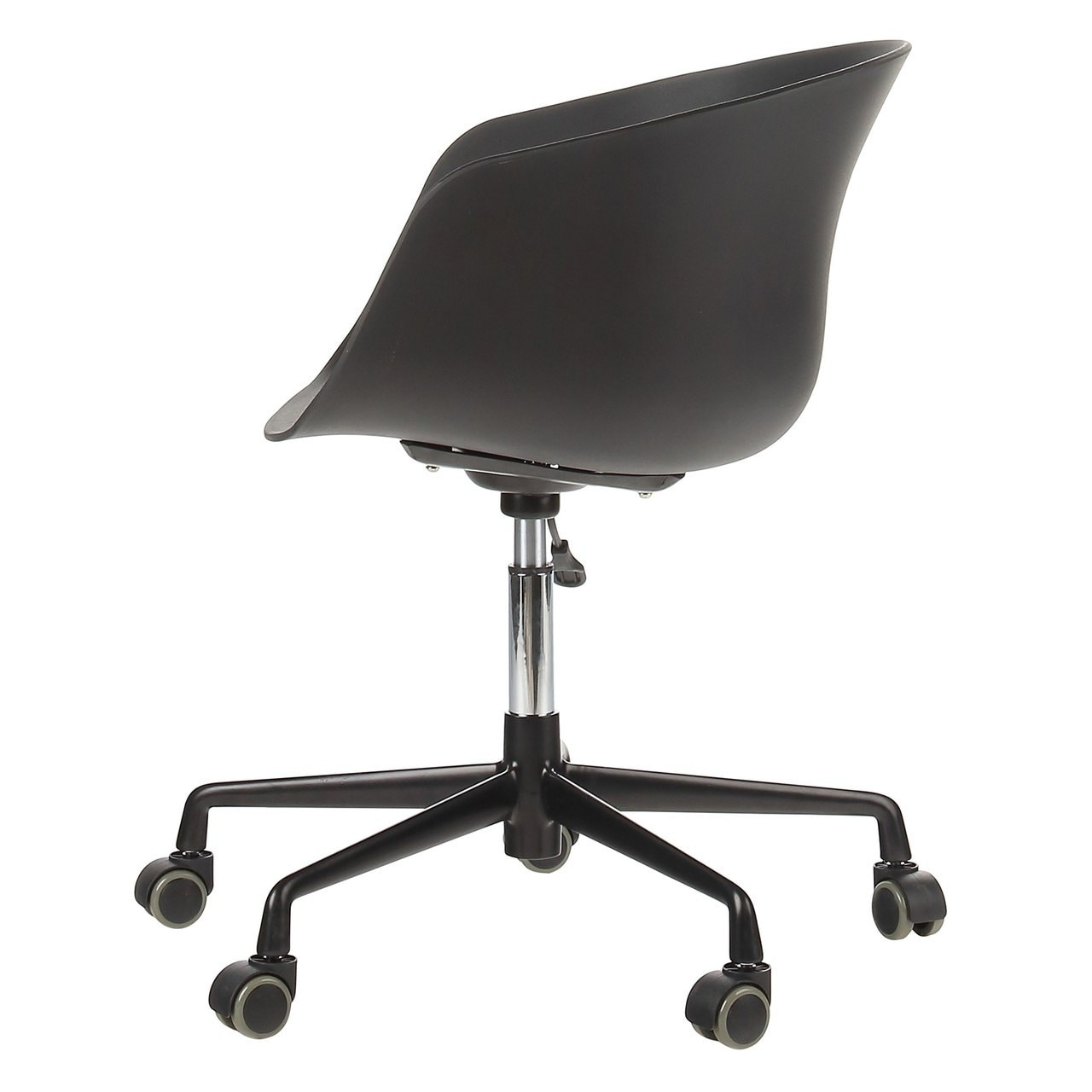 Danish Mid Century Modern Office Chair With Black Aluminum Frame On Free Shipping Today 22926334