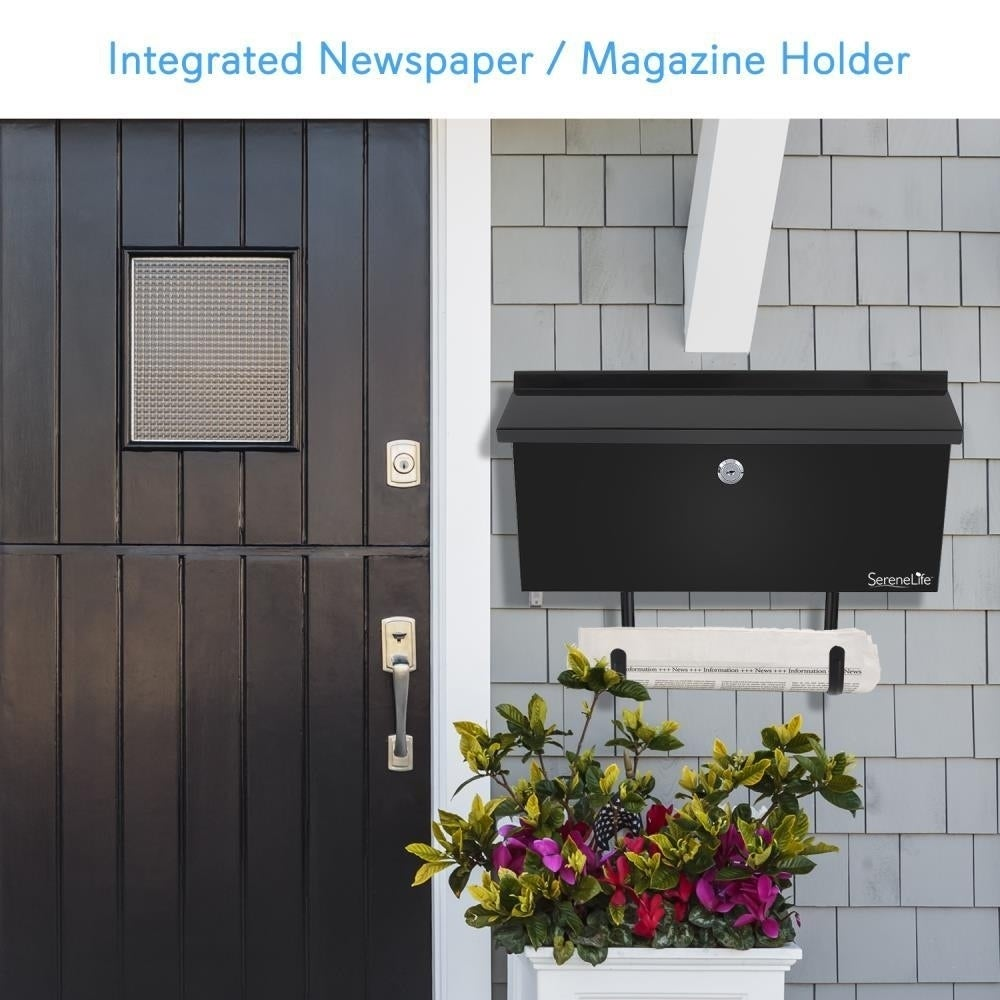 Shop SereneLife Indoor/Outdoor Wall Mount Locking Mailbox With Newspaper  Holder, Includes Keys   Free Shipping On Orders Over $45   Overstock.com    22927530