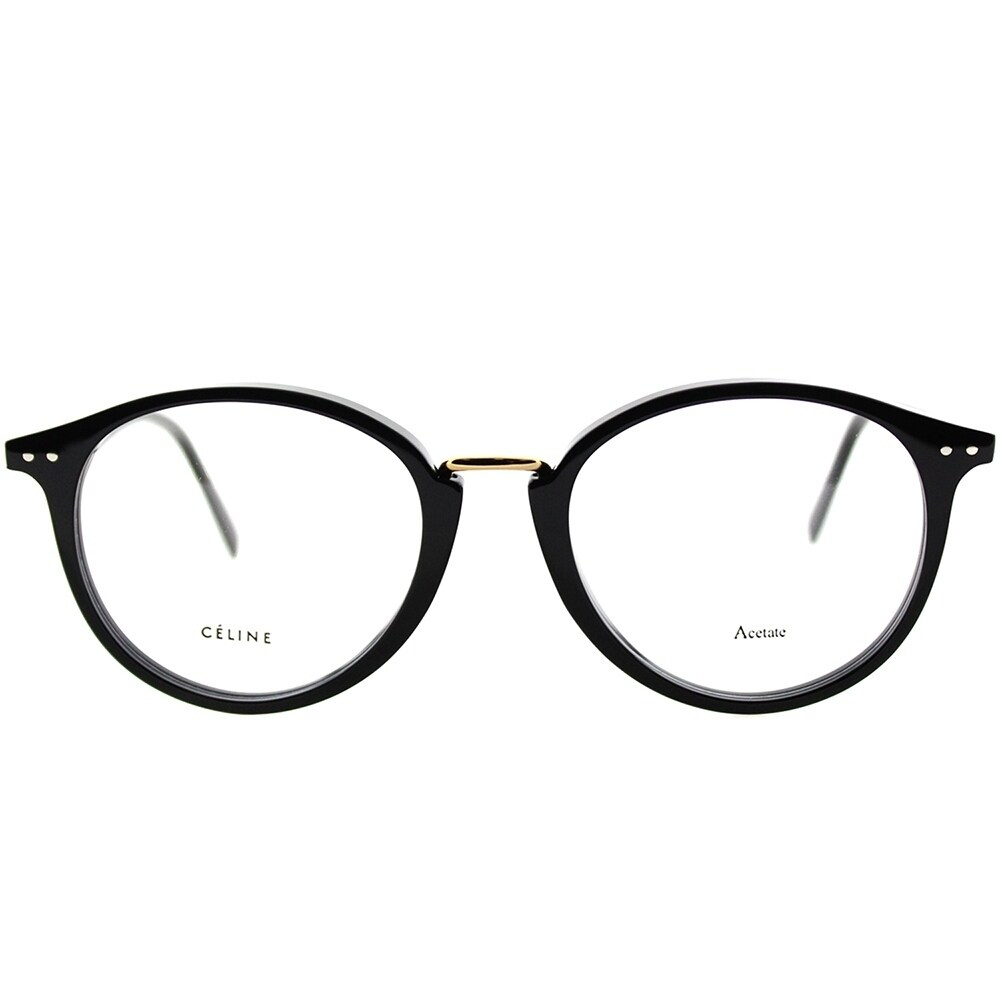 b7fcef0725 Shop Celine Round CL 41406 Twig Arch 807 Unisex Black Frame Eyeglasses - On  Sale - Free Shipping Today - Overstock.com - 22927853
