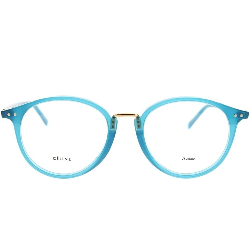 5efe9d01f4c8e Shop Celine Round CL 41406 Twig Arch 21H Unisex Teal Frame Eyeglasses -  Ships To Canada - Overstock - 22927862