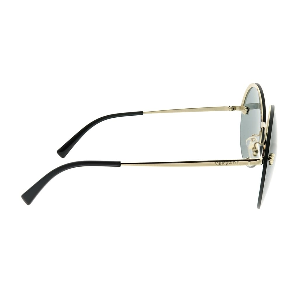 13b7812bc5b0 Shop Versace Round VE 2176 12524T Unisex Pale Gold Frame Silver Mirror Lens  Sunglasses - Free Shipping Today - Overstock - 22927884