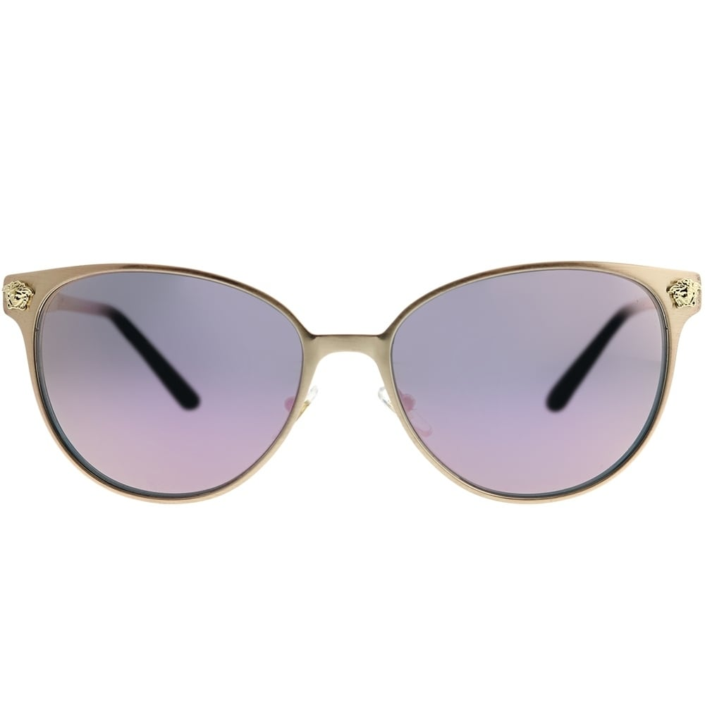 6a93adaac30d9 Shop Versace Round VE 2168 14095R Women Pink Gold Frame Dark Pink Mirror  Lens Sunglasses - Free Shipping Today - Overstock - 22927885