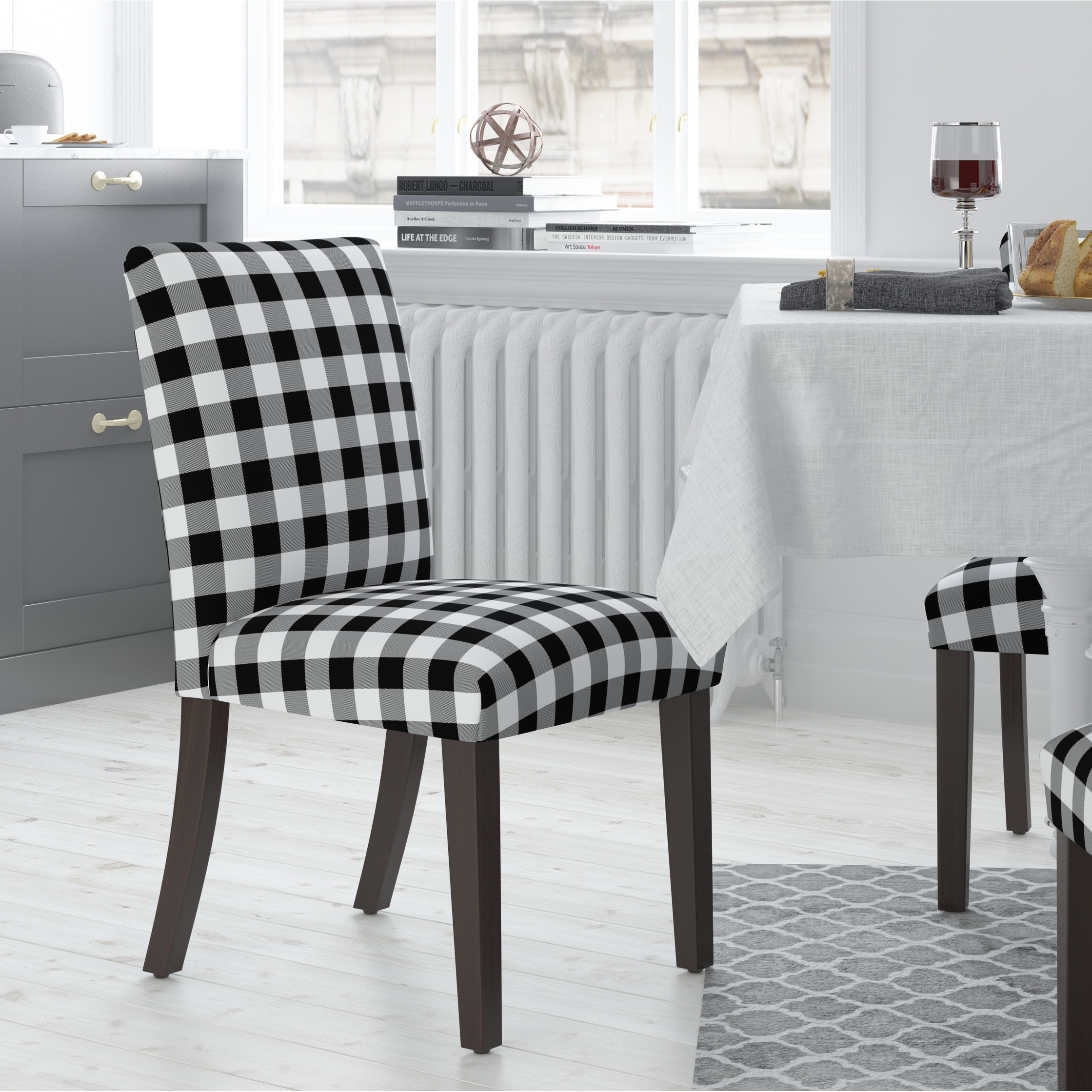 Ordinaire Skyline Furniture Dining Chair In Classic Gingham