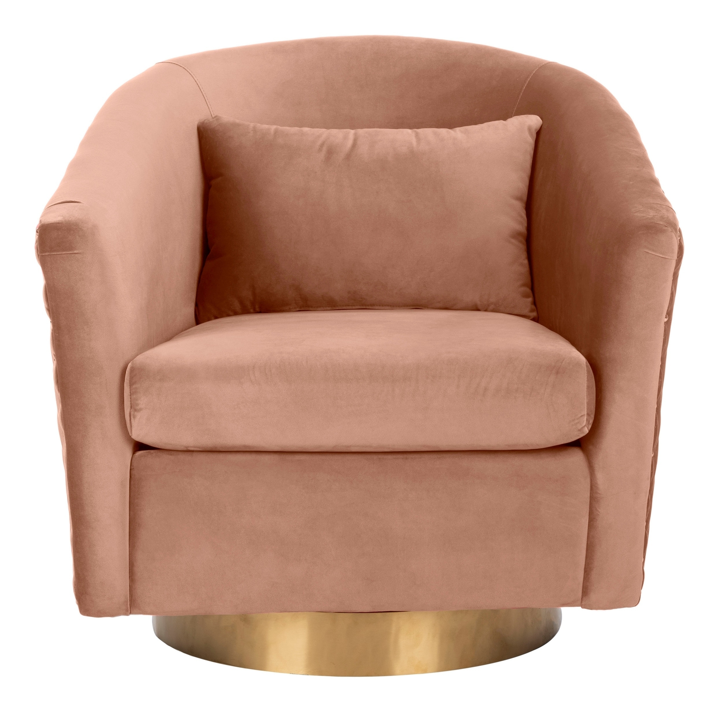 Shop Safavieh Couture Clara Quilted Swivel Tub Chair- Dusty Rose ...