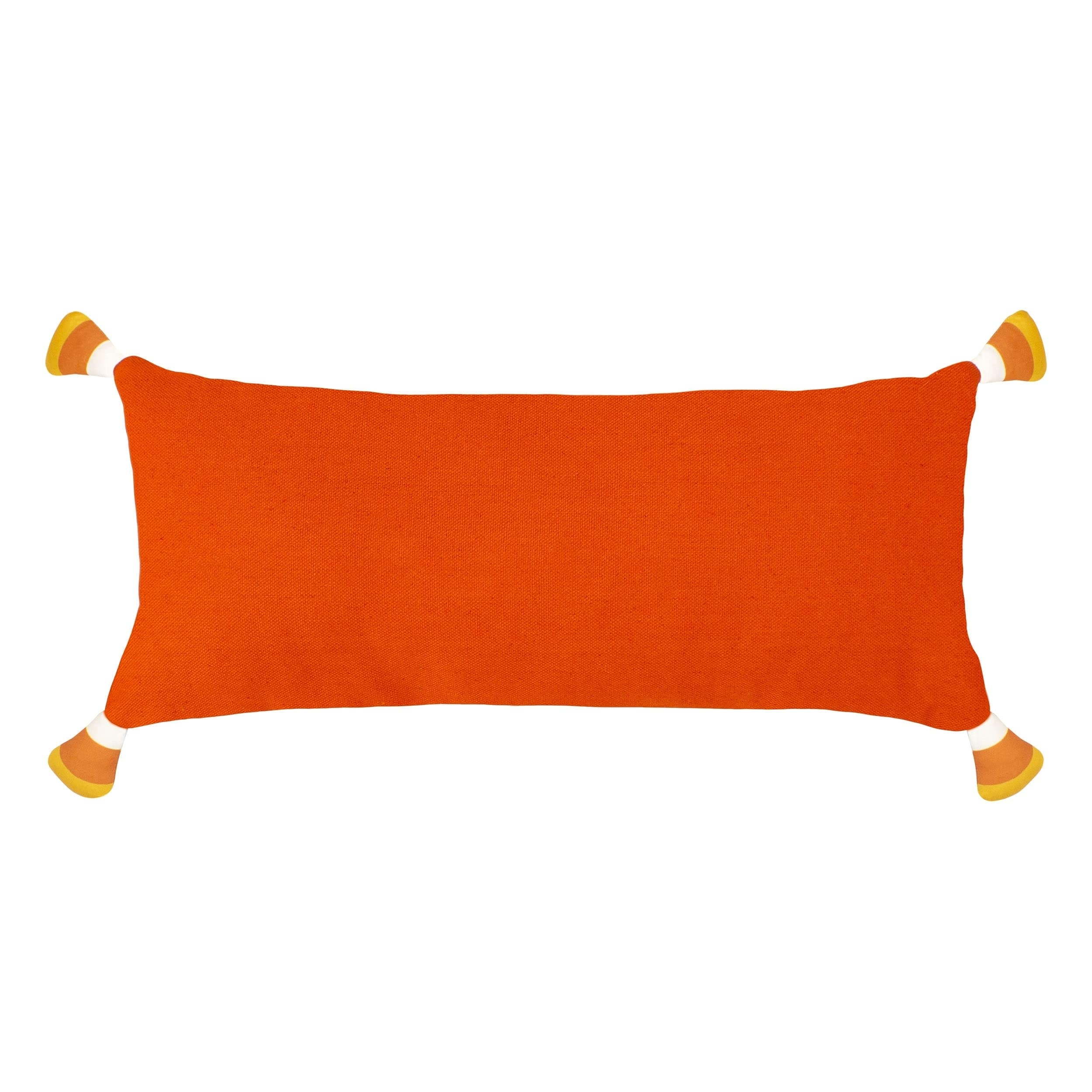 shop trick or treat candy corn halloween pillow - free shipping on
