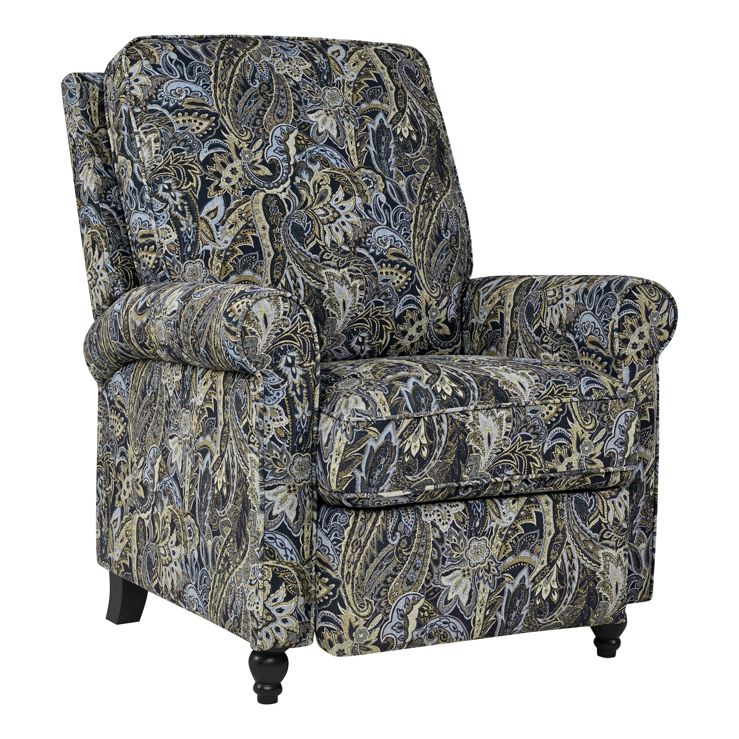 Shop ProLounger Blue Paisley Velvet Push Back Recliner Chair   On Sale    Free Shipping Today   Overstock.com   22964605