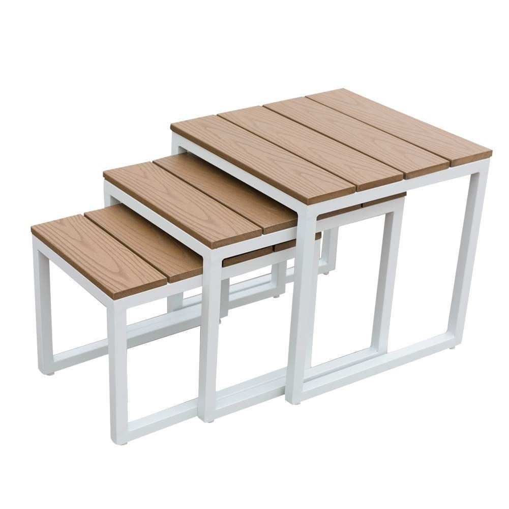 Nesting furniture Outdoor Set Nesting Coffee Side End Tables Furniturenight Stand Table Overstock Shop Set Nesting Coffee Side End Tables Furniturenight Stand