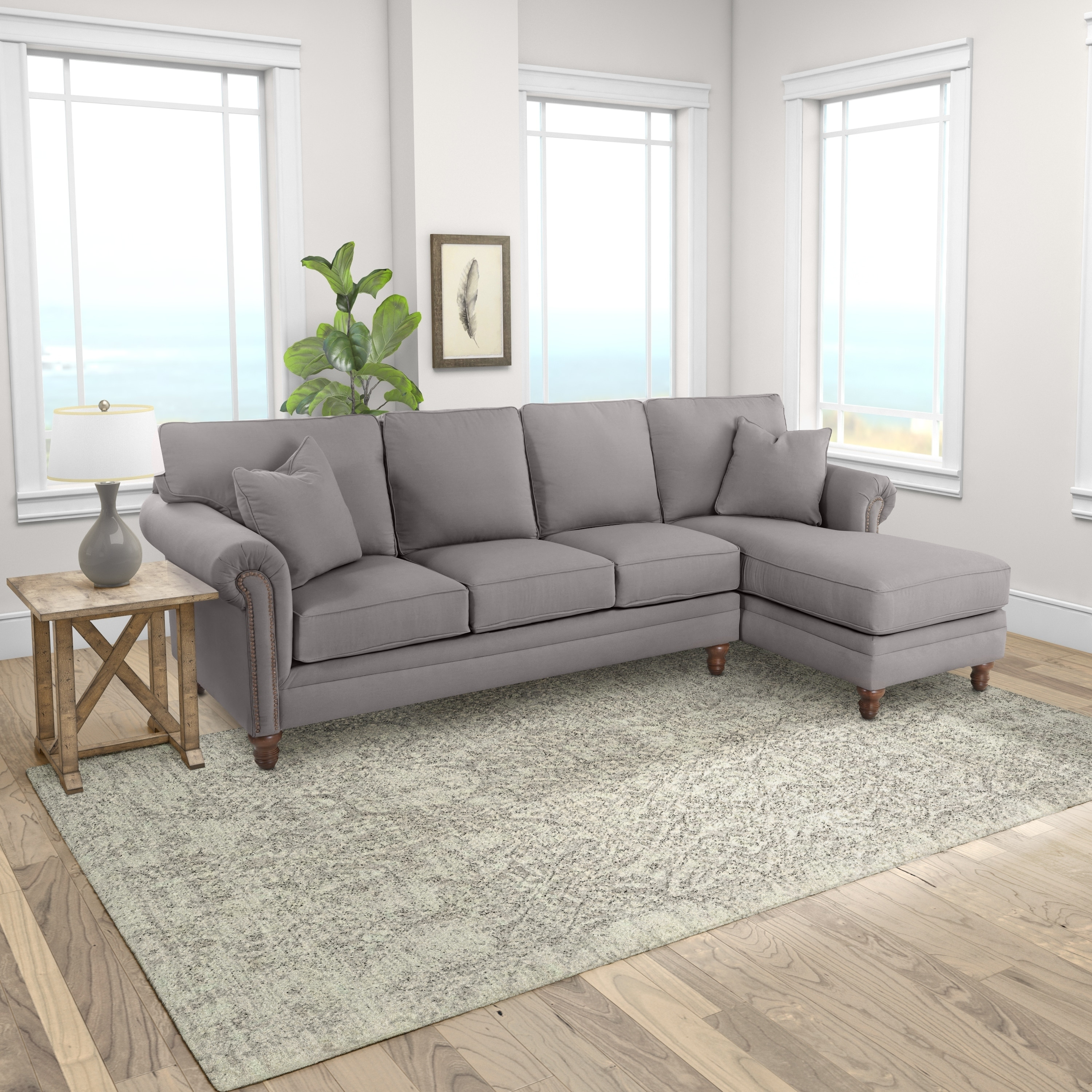 Klaussner furniture made to order carrington sofa chaise sectional