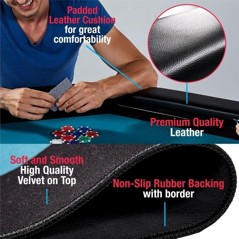Prime Md Sports Premium 4 Player Air Powered Hockey With Poker Mat Black Interior Design Ideas Tzicisoteloinfo