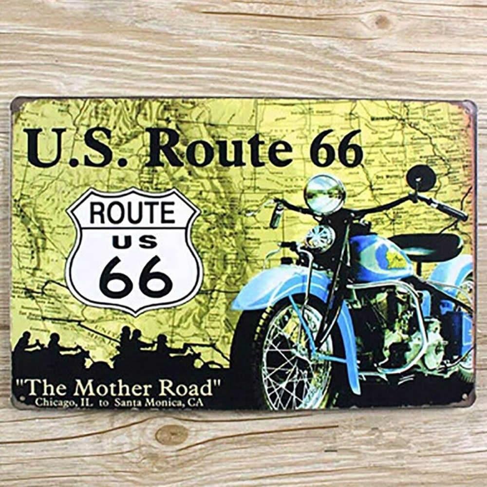 Shop Vintage #10 Route 66 Metal Sign 12\