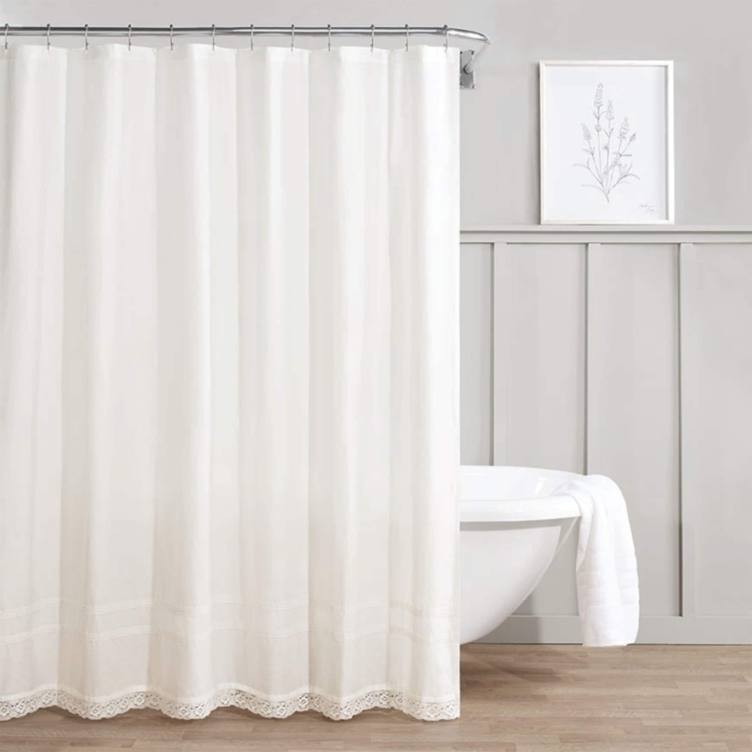 Shop Laura Ashley Annabella White Shower Curtain