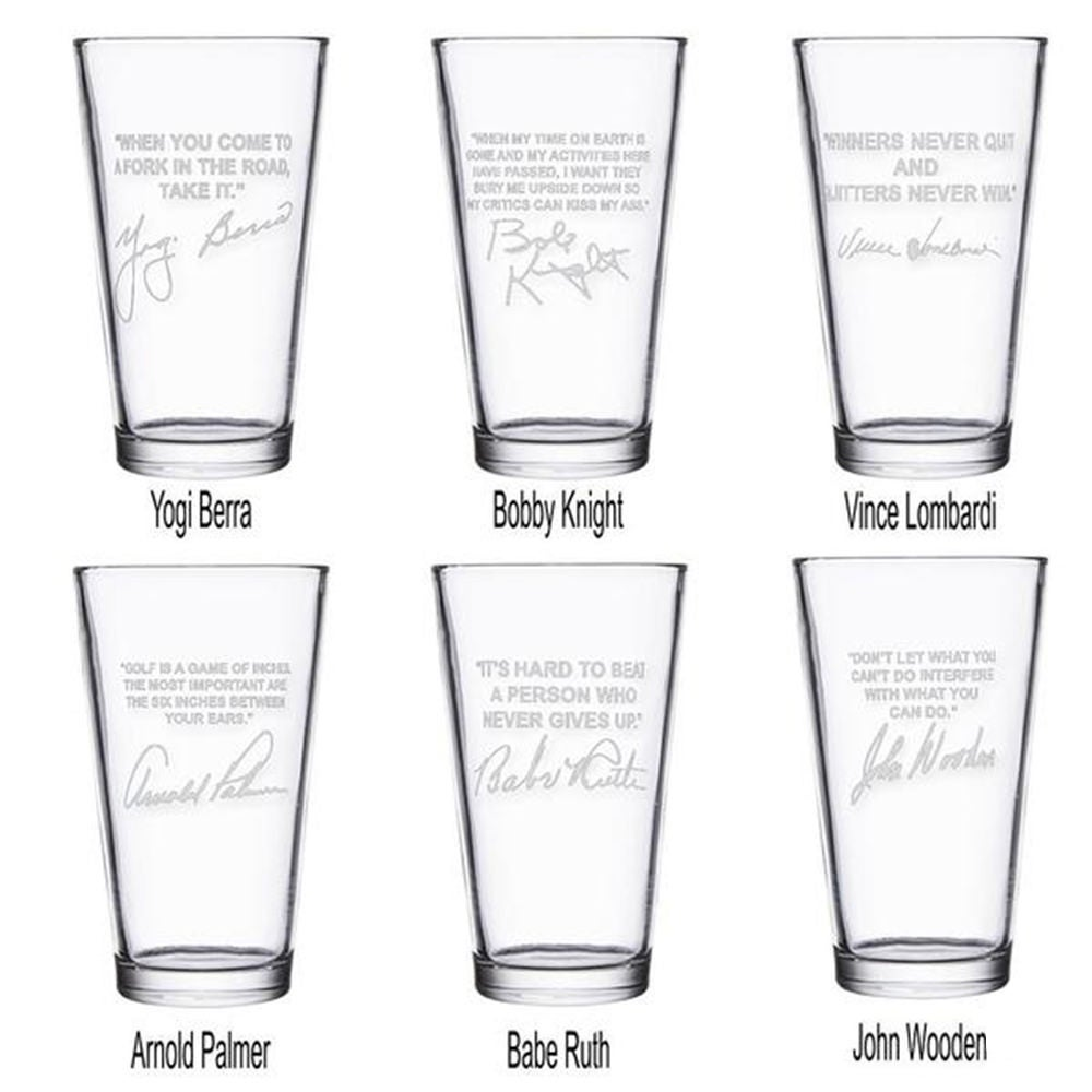 Sports Quotes Personalized Beer Glasses 6 Best Sellers