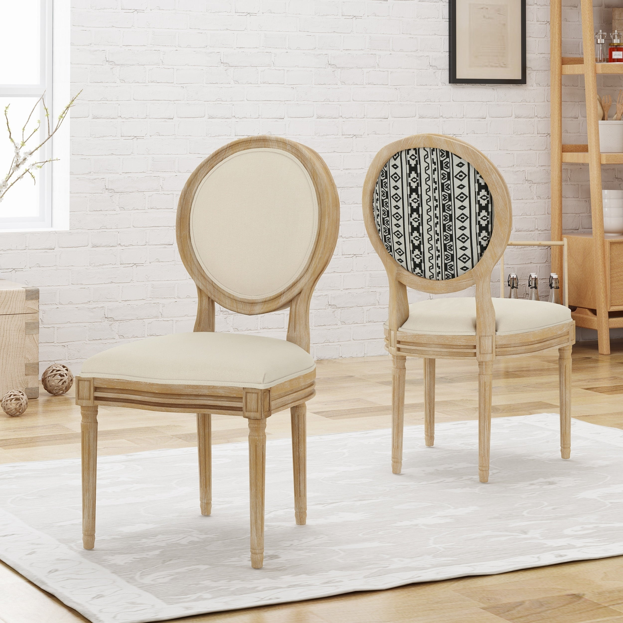 c45069c3e9 Shop Phinnaeus Upholstered Farmhouse Dining Chairs (Set of 2) by  Christopher Knight Home - On Sale - Free Shipping Today - Overstock -  22995822