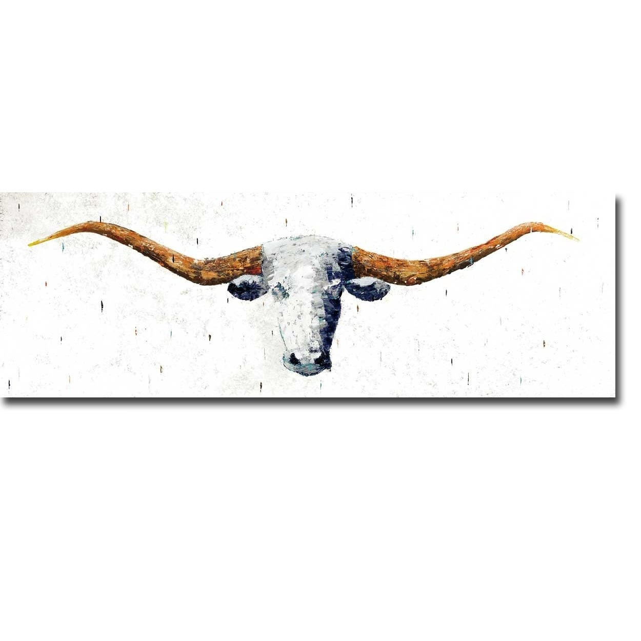 Longhorn by marvin pelkey gallery wrapped canvas giclee art