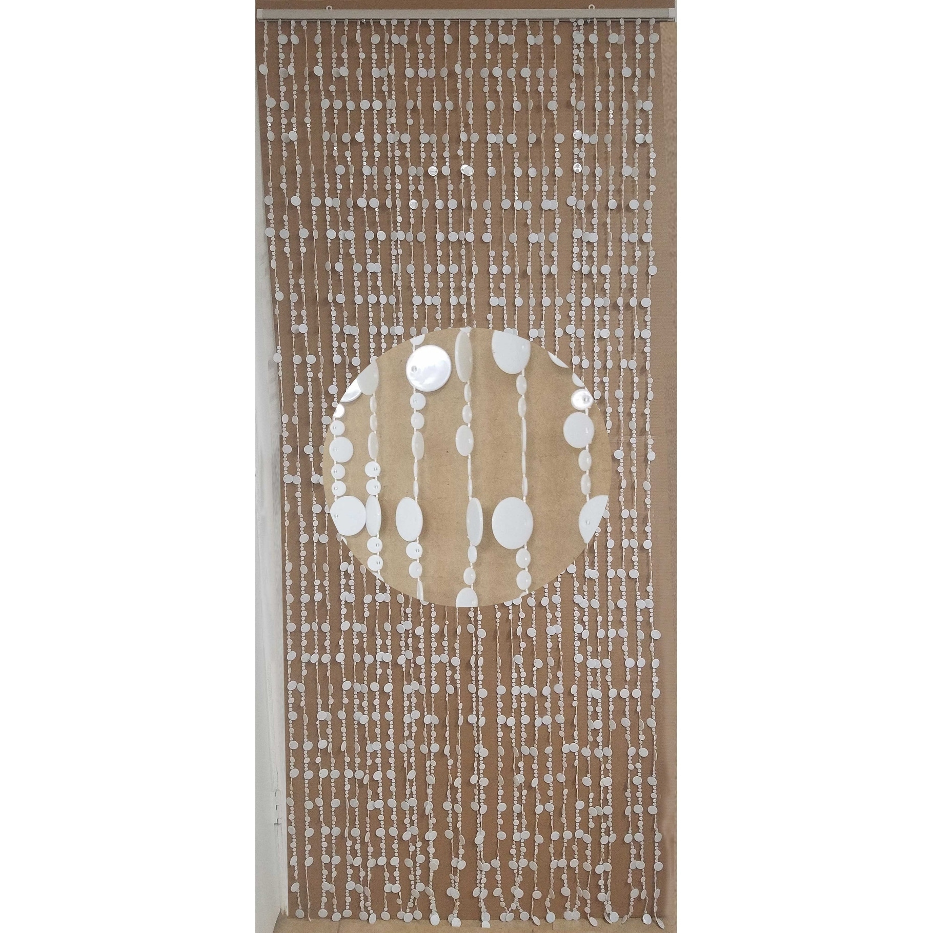 """Shop Evideco Flat Beaded Curtain Doorway 30 Strings 86.6""""H x 35.5""""W - 86.6h x 35.5 inch /220x90 cm - Free Shipping On Orders Over $45 - Overstock.com - ..."""