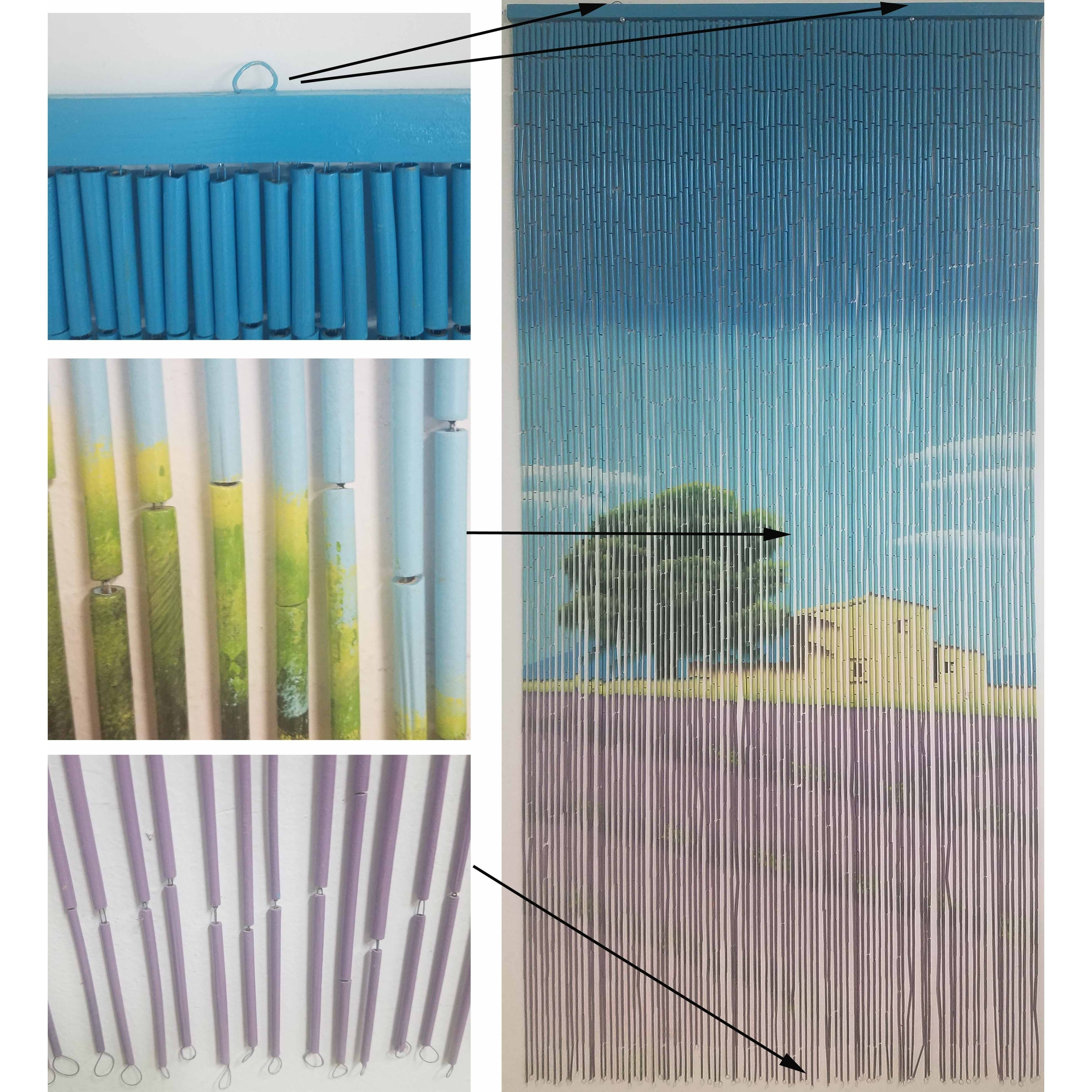 Evideco Bamboo Beaded Curtain Doorway 90 Strings 78 8 H X 35 5 W 8h Inch 200x90 Cm Free Shipping Today 23002625