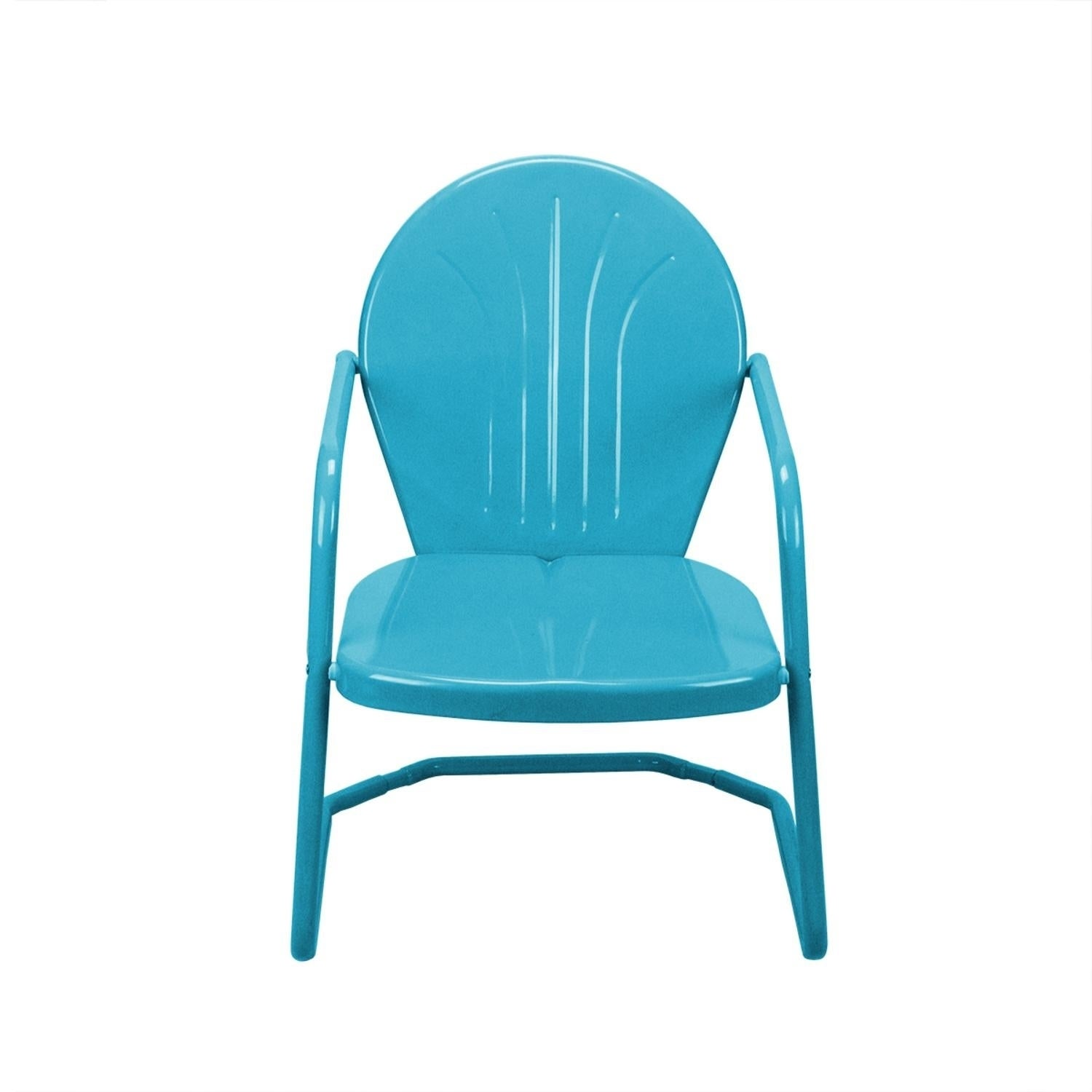Shop Retro Style 34 Inch Outdoor Metal Tulip Chair Turquoise Blue   Free  Shipping Today   Overstock   23004515